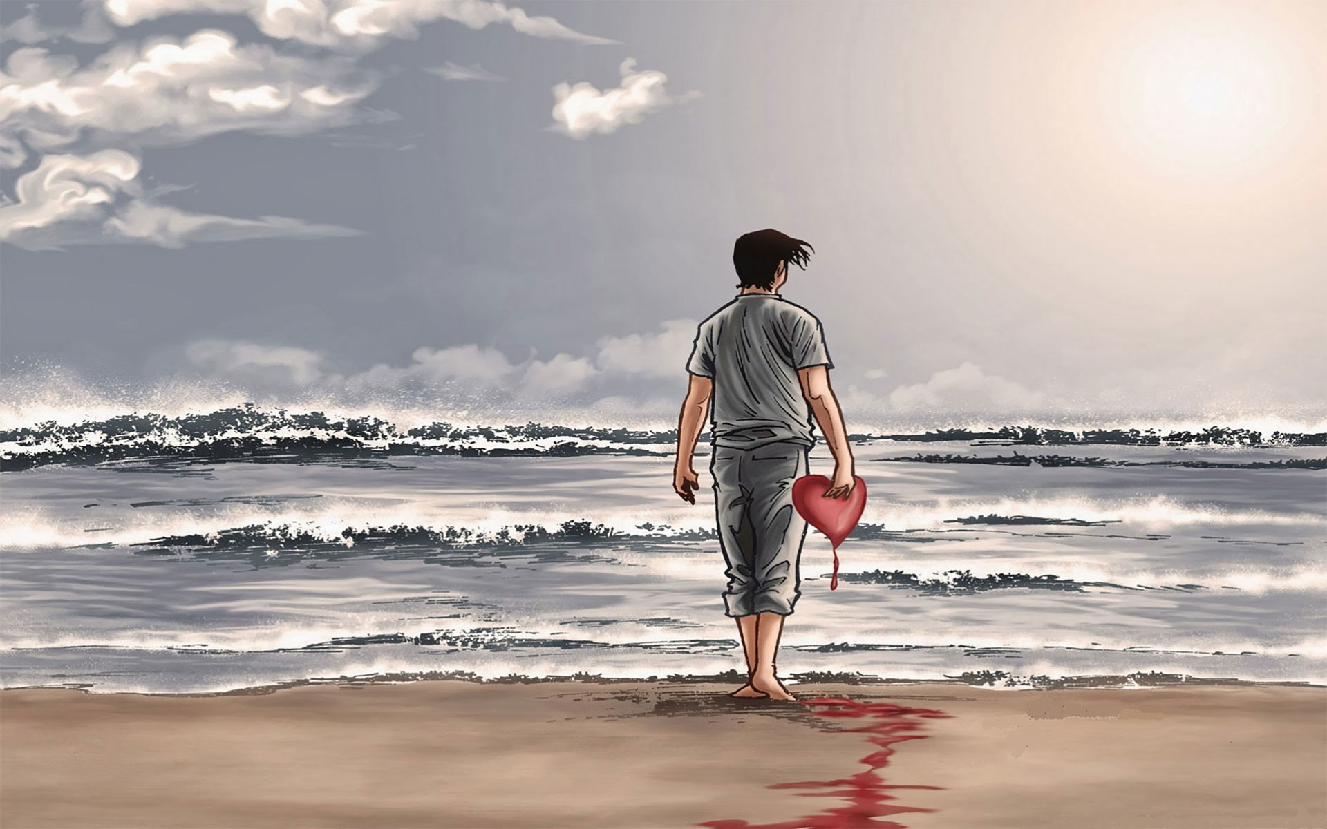 Broken heart bleeds tears quotes wallpaper 00764 baltana.