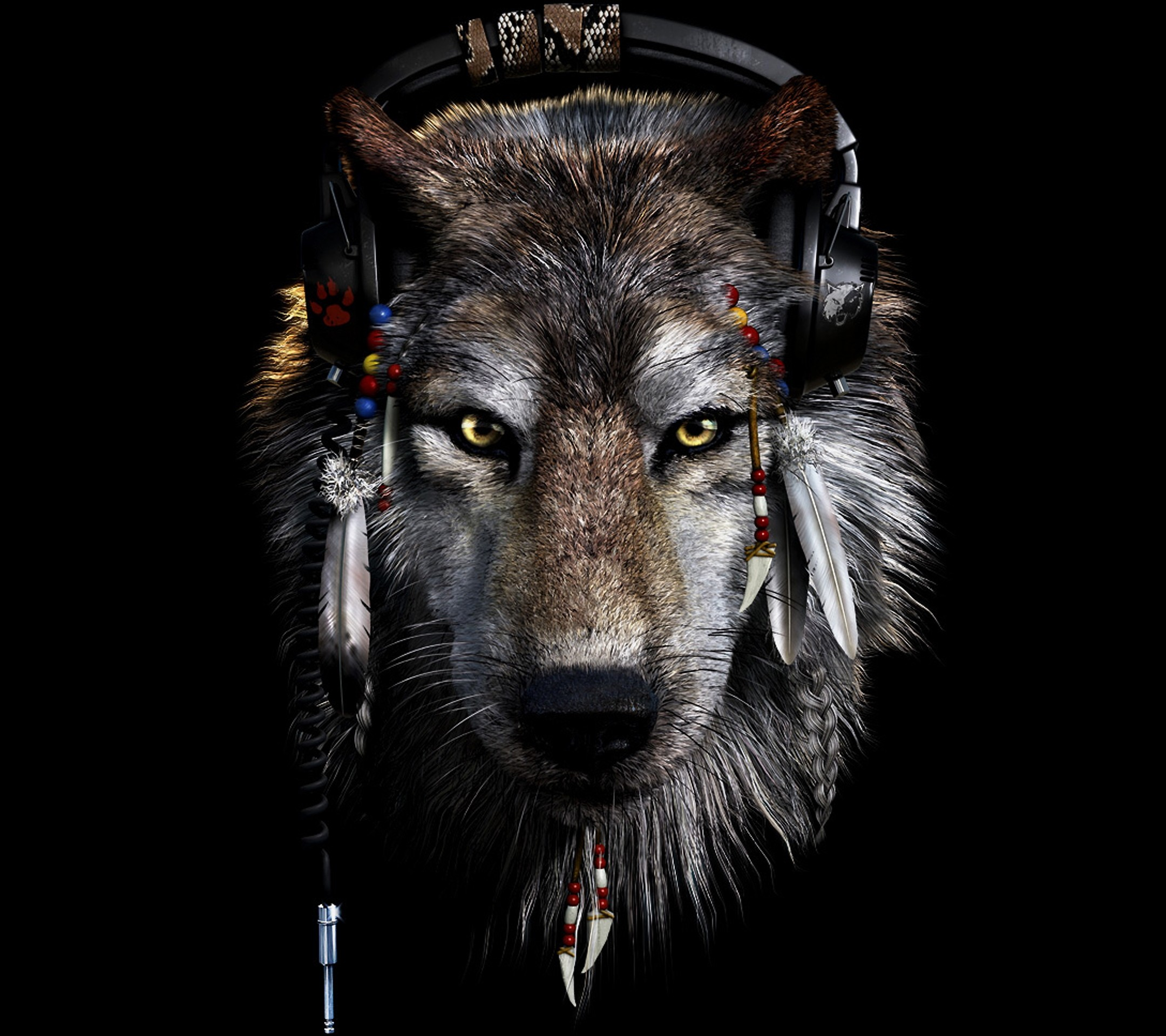 2160x1920 Dark Wolf Wallpapers Wallpaper
