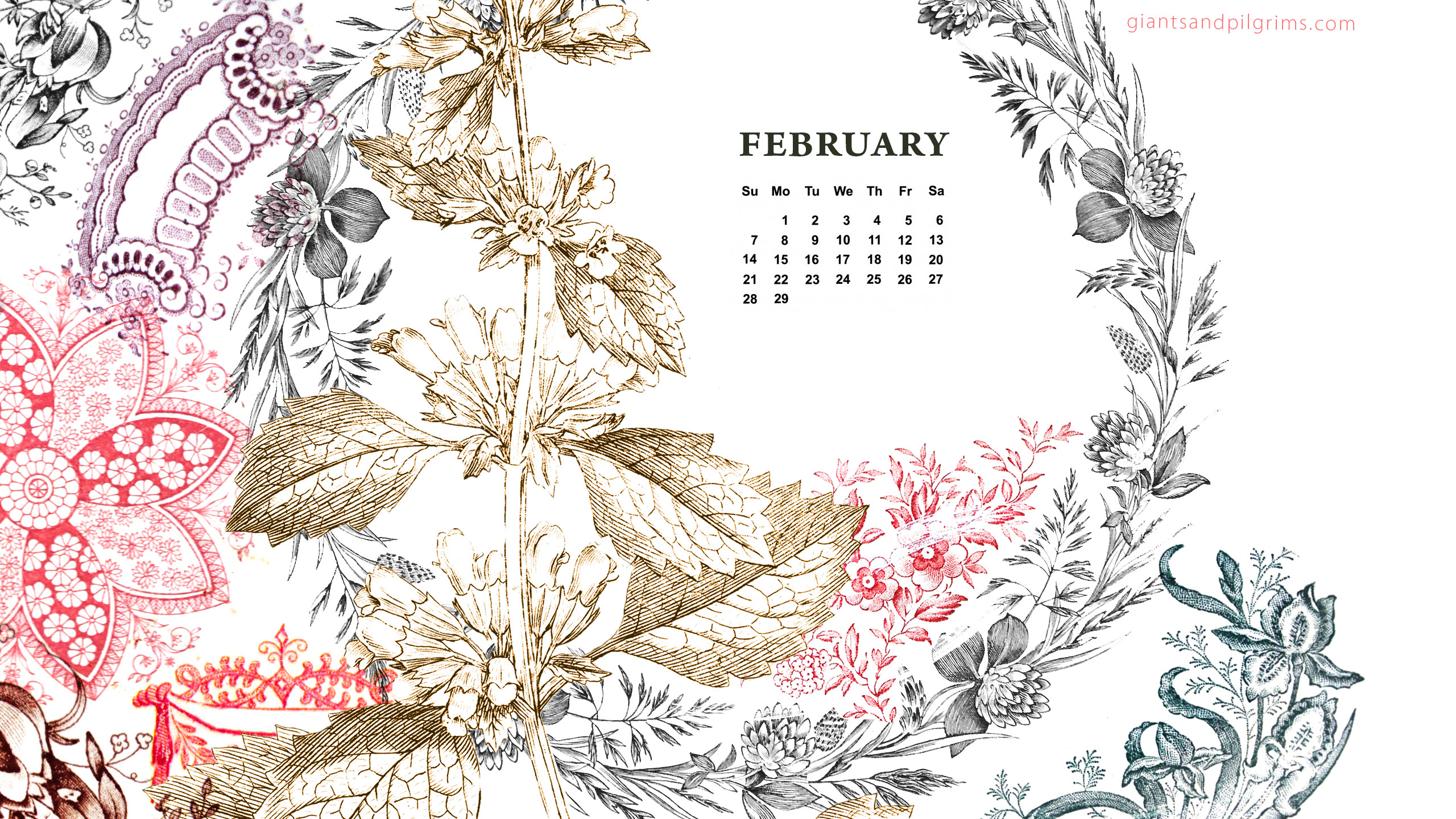 Calendar Wallpaper Pc : Desktop wallpaper calendar february  images