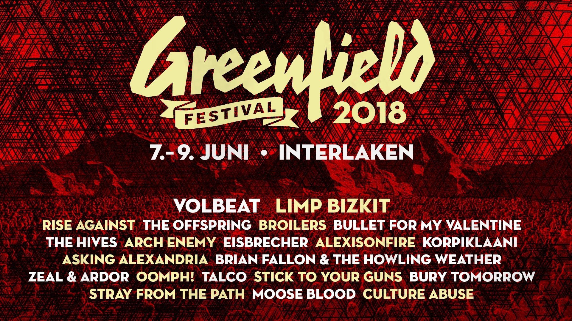 1920x1080 Greenfield Festival 2018 - Volbeat, Arch Enemy, Limp Bizkit, The Offspring  - Metalinside
