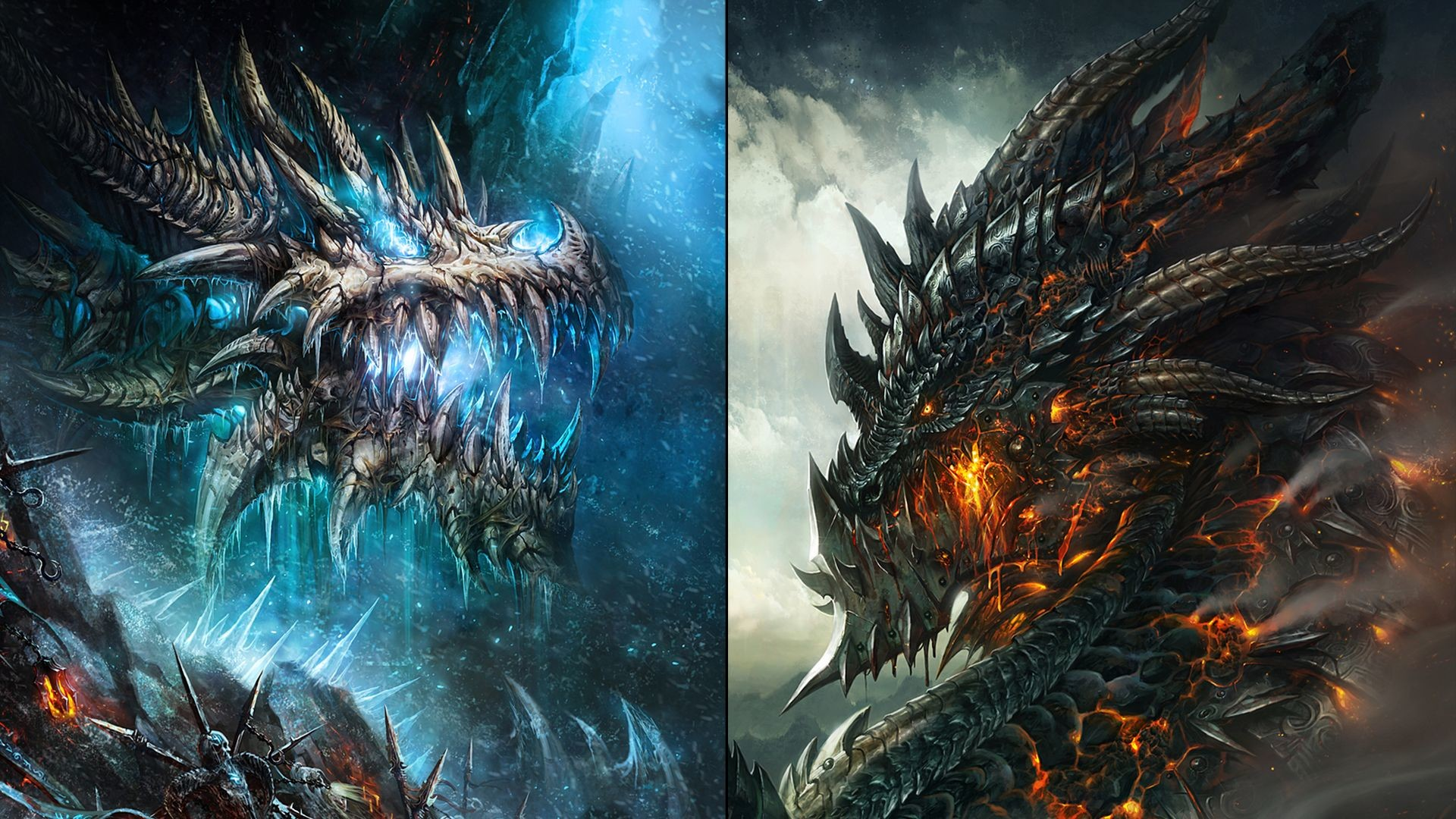 Black Dragon Wallpapers (65+ images) Fire And Ice Dragon Wallpaper