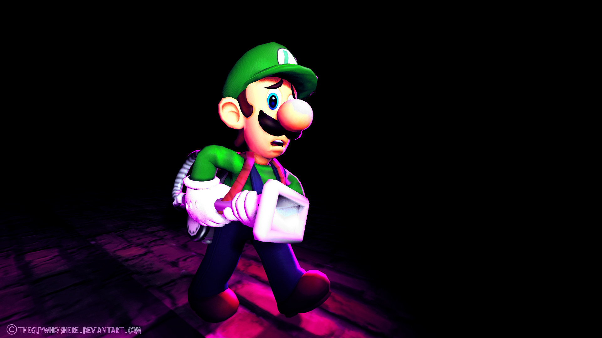 1920x1080 ... theguywhoishere Some Luigi thingy or whatever... by theguywhoishere