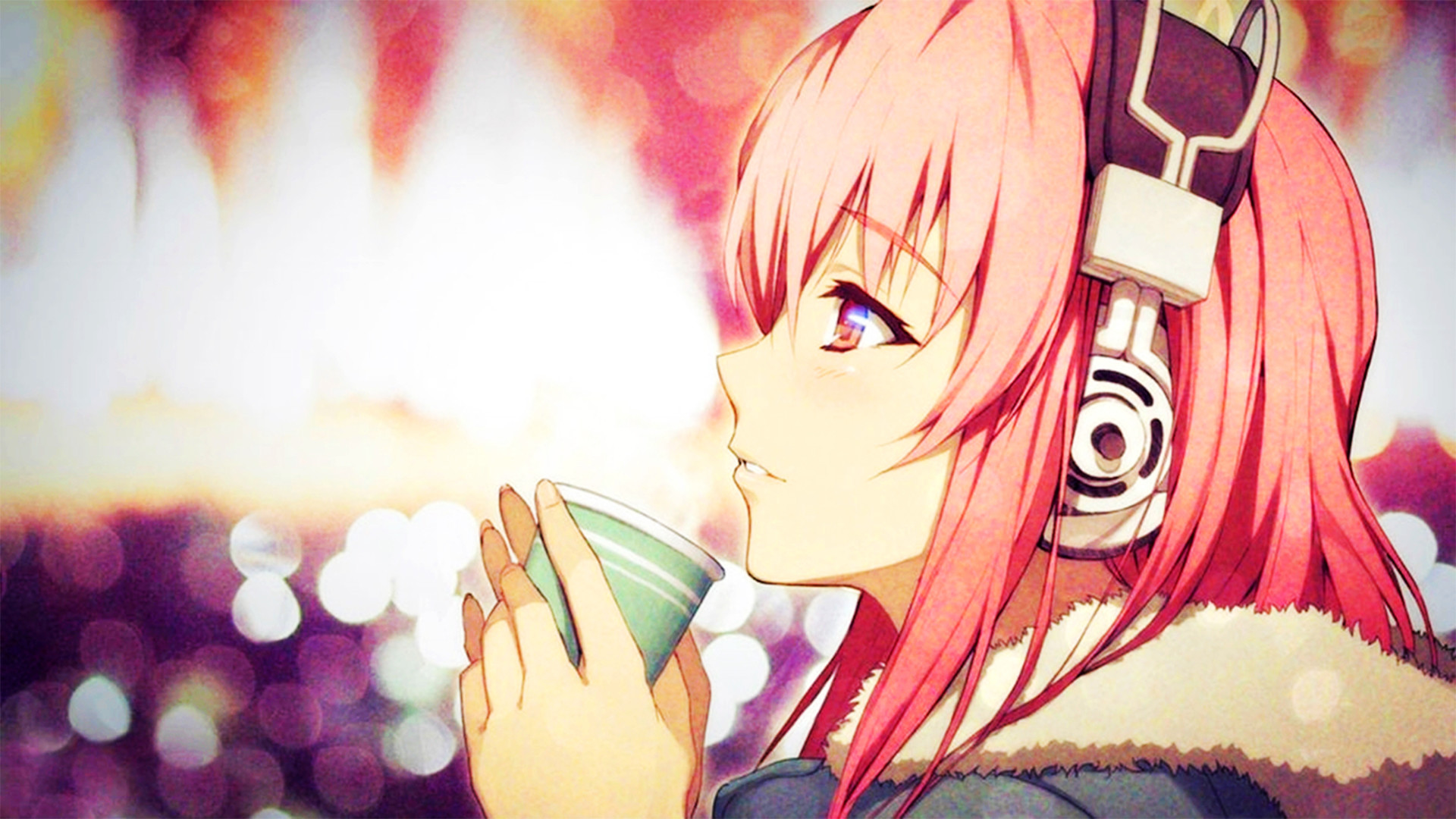 1920x1080 Super Sonico, Headphones, Pink Hair, Coats Wallpapers HD / Desktop and  Mobile Backgrounds
