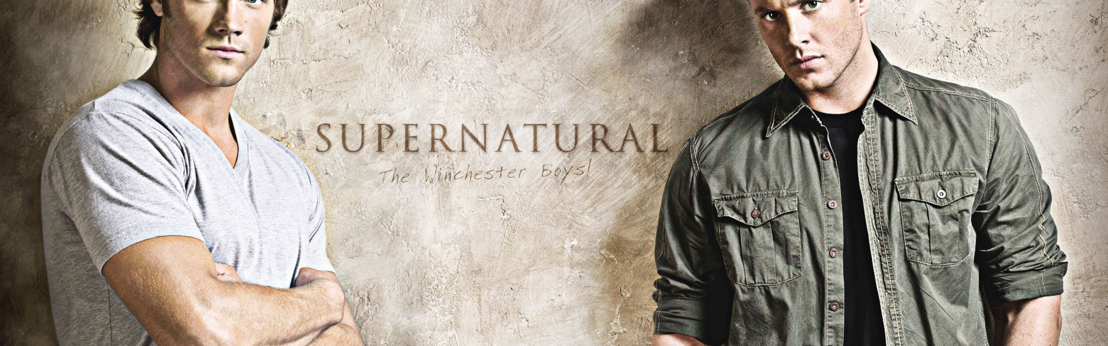 3840x1200  Wallpaper supernatural, actors, jared padalecki, jensen ackles,  sam winchester, dean