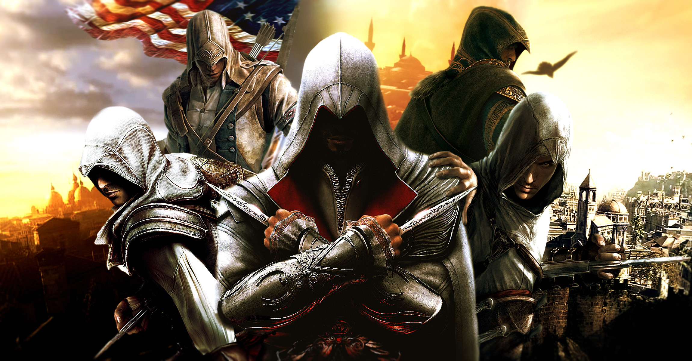 2300x1200 Computerspiele - Assassin's Creed Ezio (Assassin's Creed) Altair (Assassin's  Creed) Conor Wallpaper