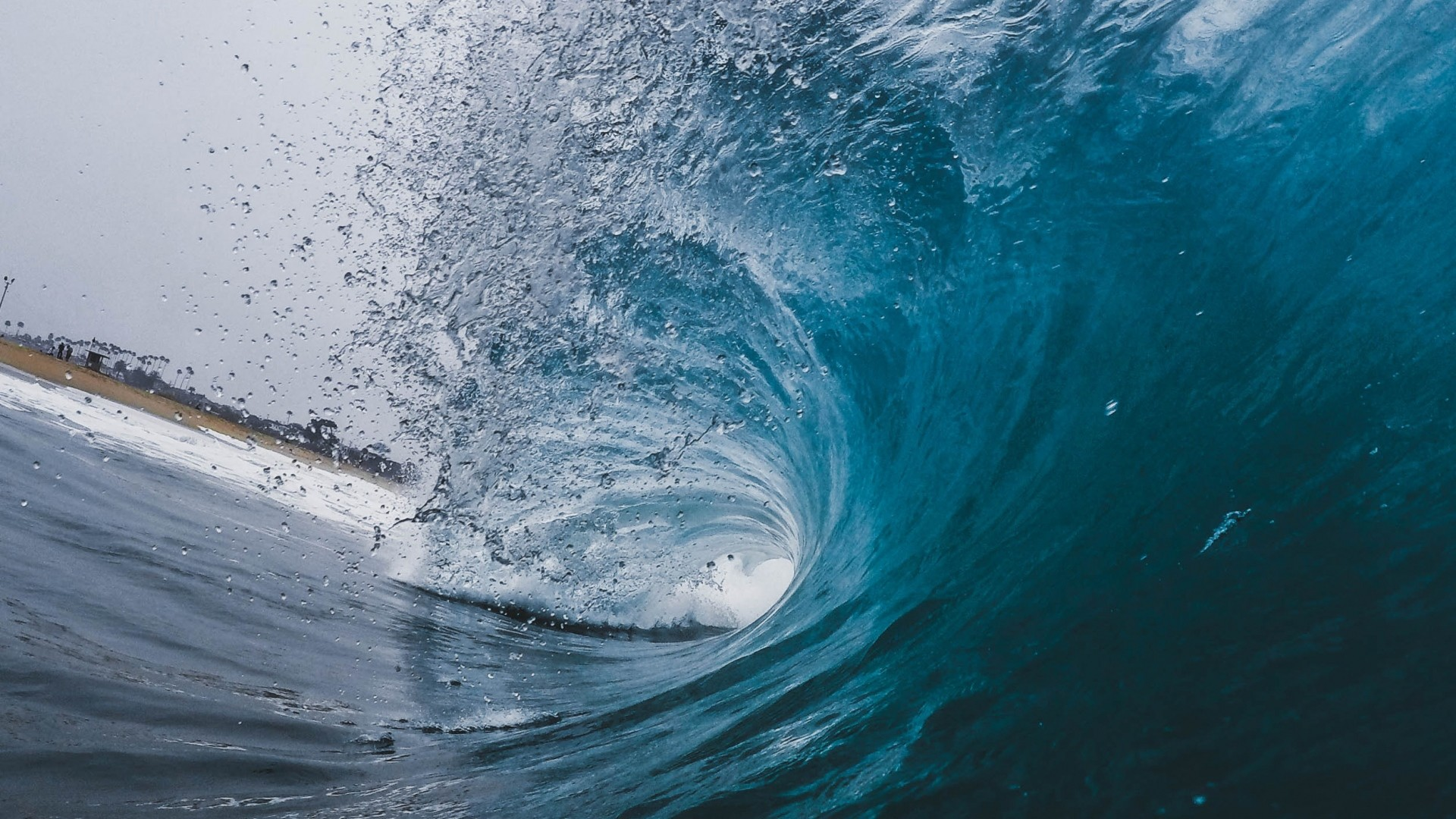 1920x1080 Preview wallpaper wave, ocean, spray