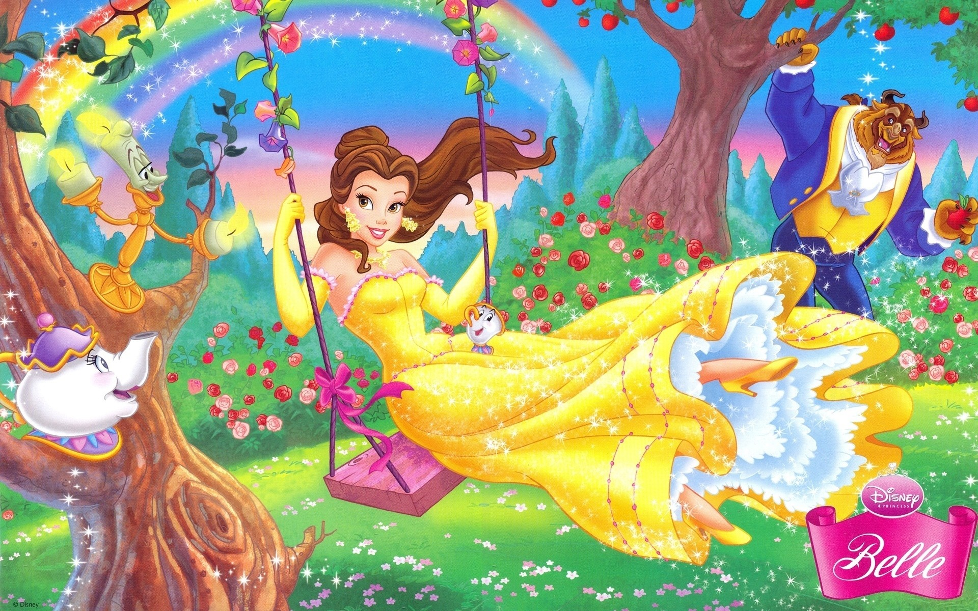 1920x1200 disney princess belle hd wallpaper free download