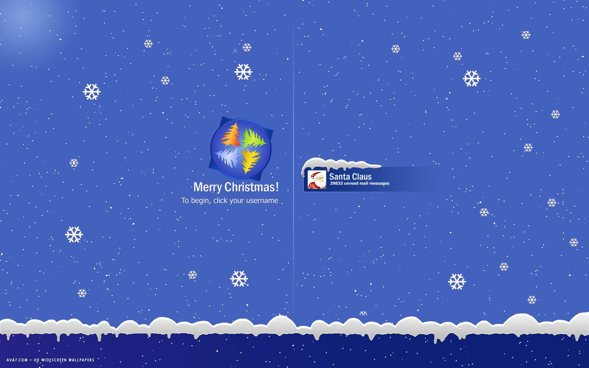 1920x1200 merry christmas windows login santa claus mail messages funny holiday hd  widescreen wallpaper