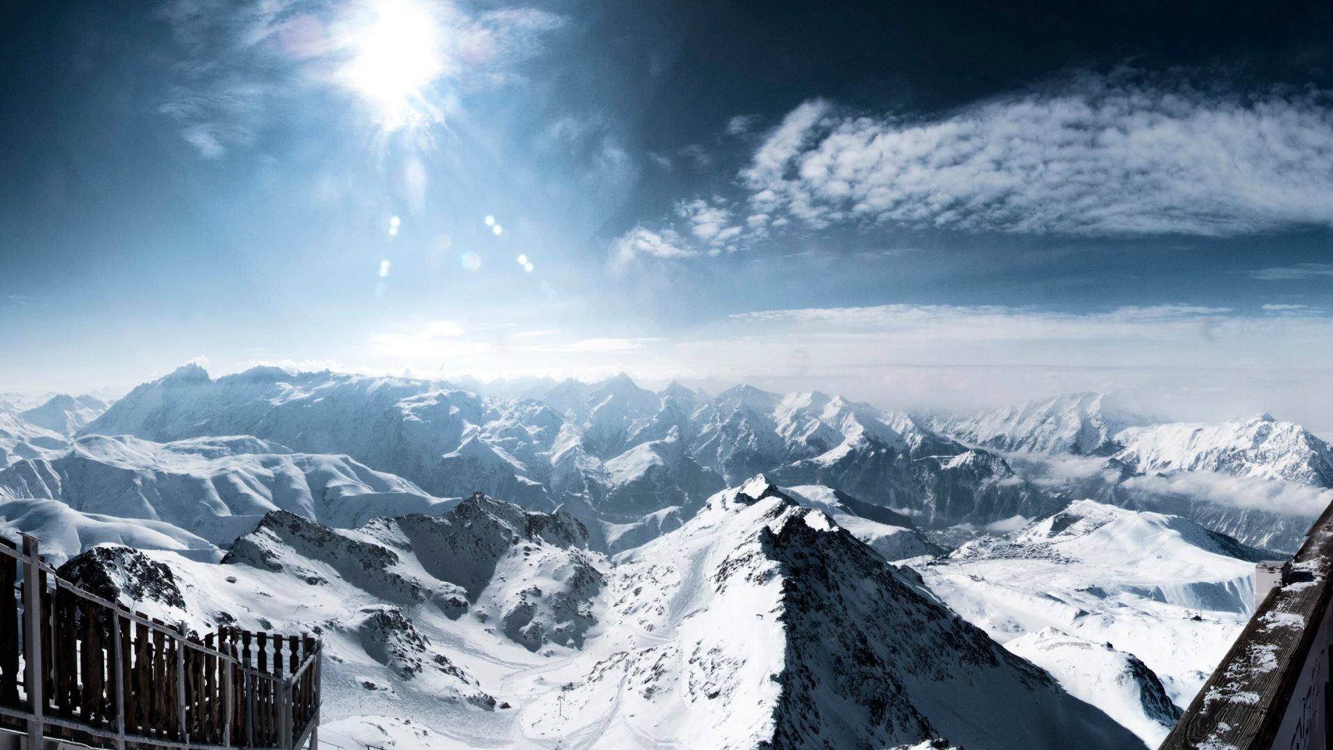 1920x1080 Mountains - Alps Snowy Nature Wallpapers Hd For Windows 8 for HD 16:9 High