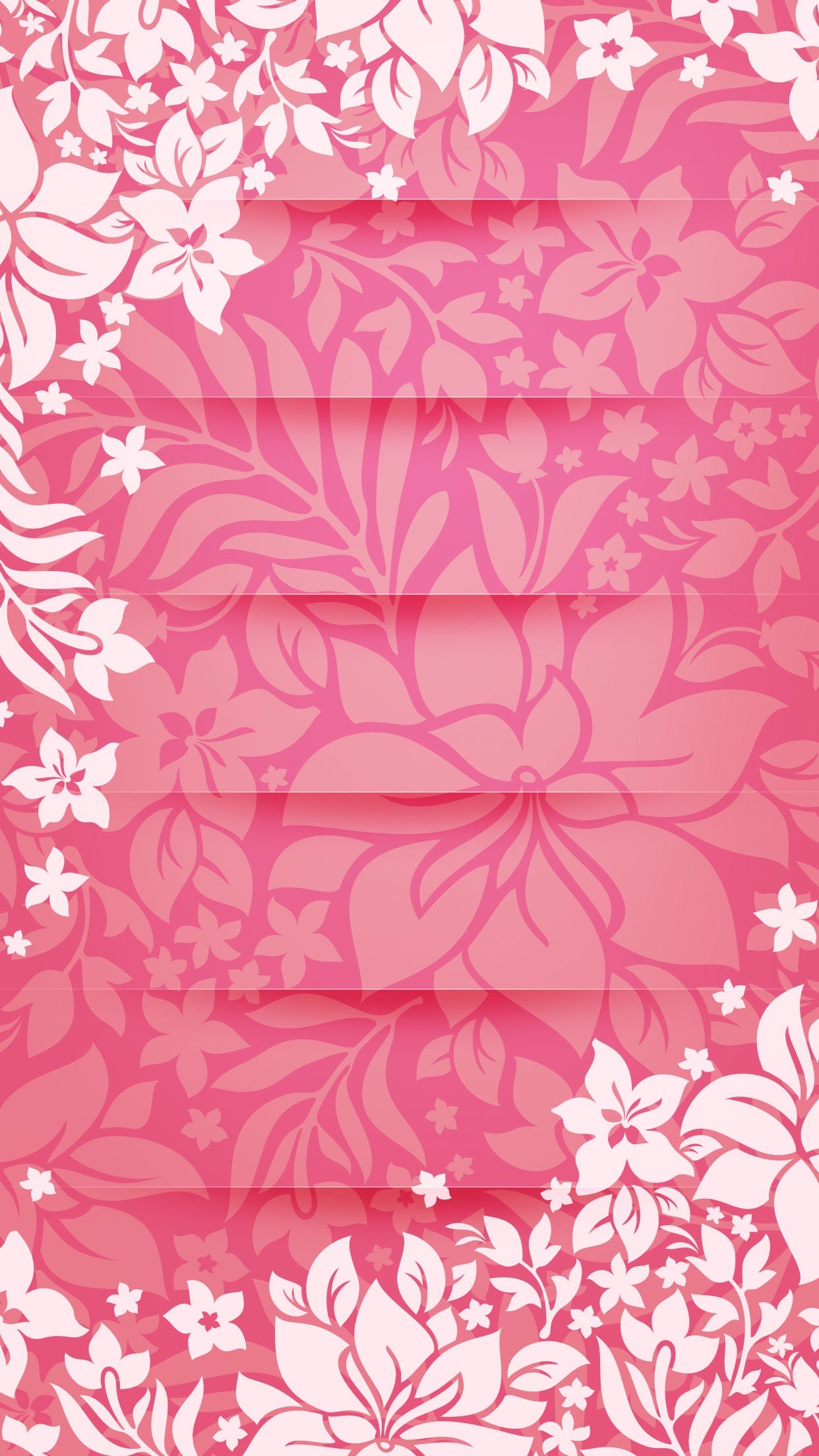 1242x2208 Shelves Flower Pattern Pink Tracery Unicolor Girly Iphone 6 Plus WallpapersPretty