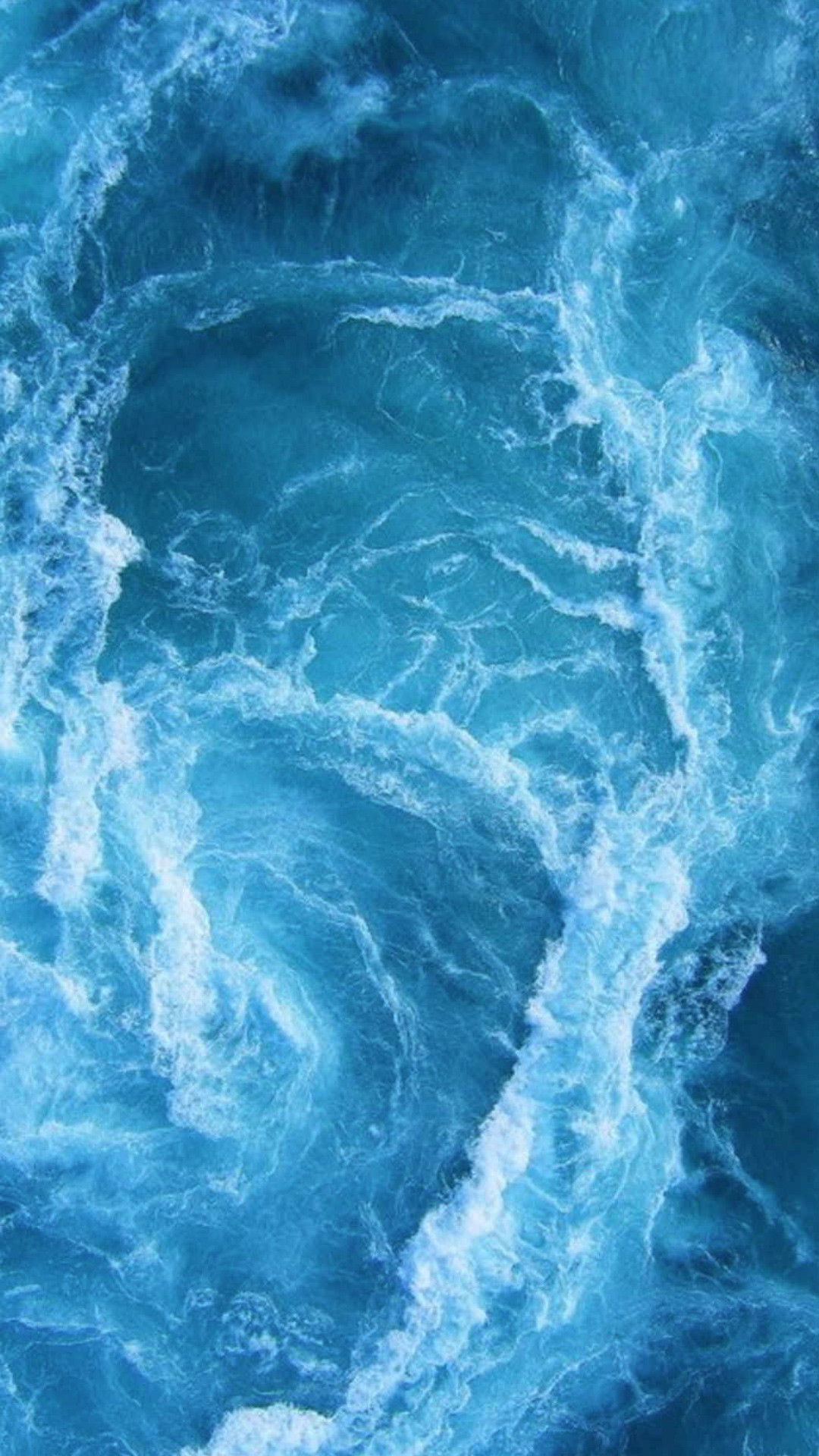 1080x1920 Swirling Blue Ocean Waves iPhone 6+ HD Wallpaper ...