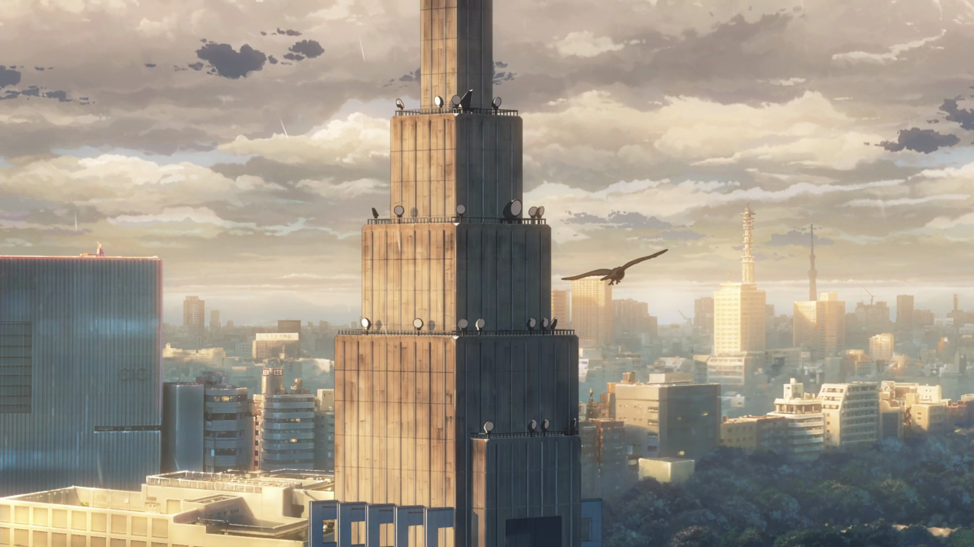 1920x1080 Anime  anime The Garden of Words cityscape painted building  building