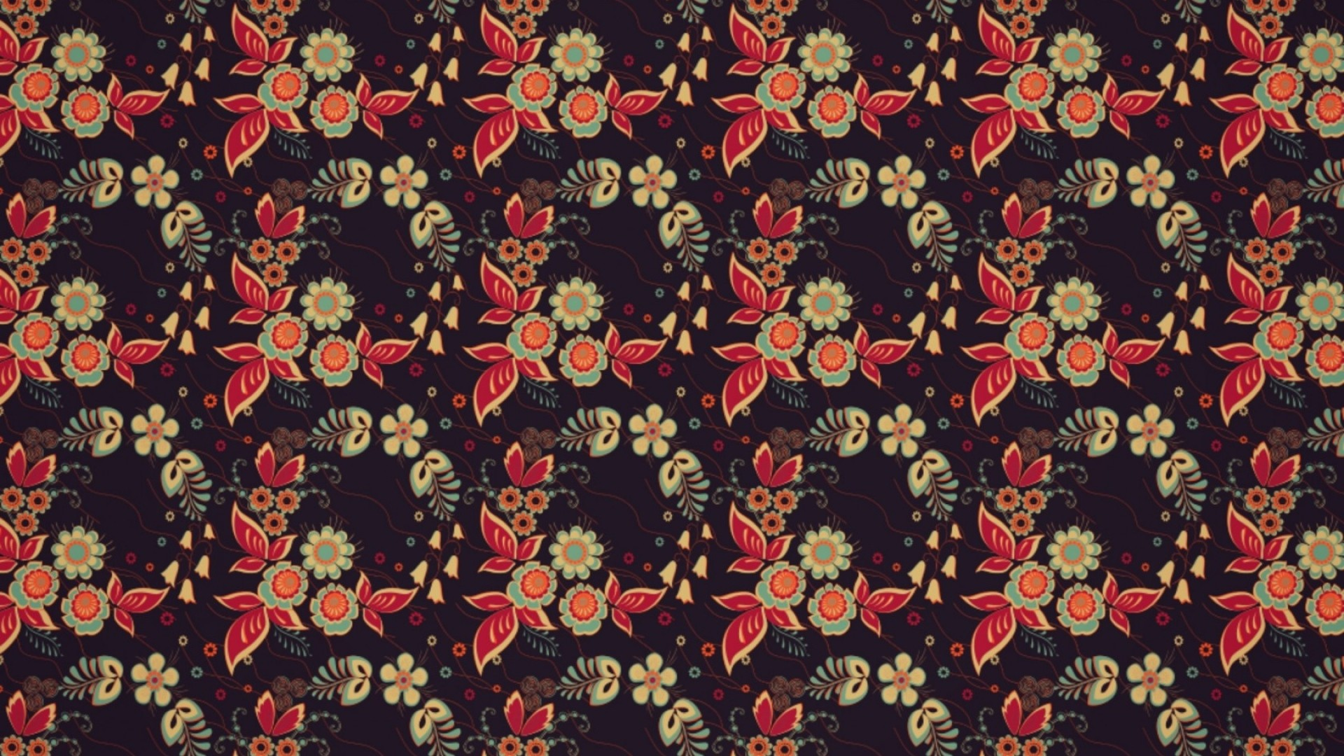 1920x1080  Wallpaper pattern, texture, color, tile, red, black