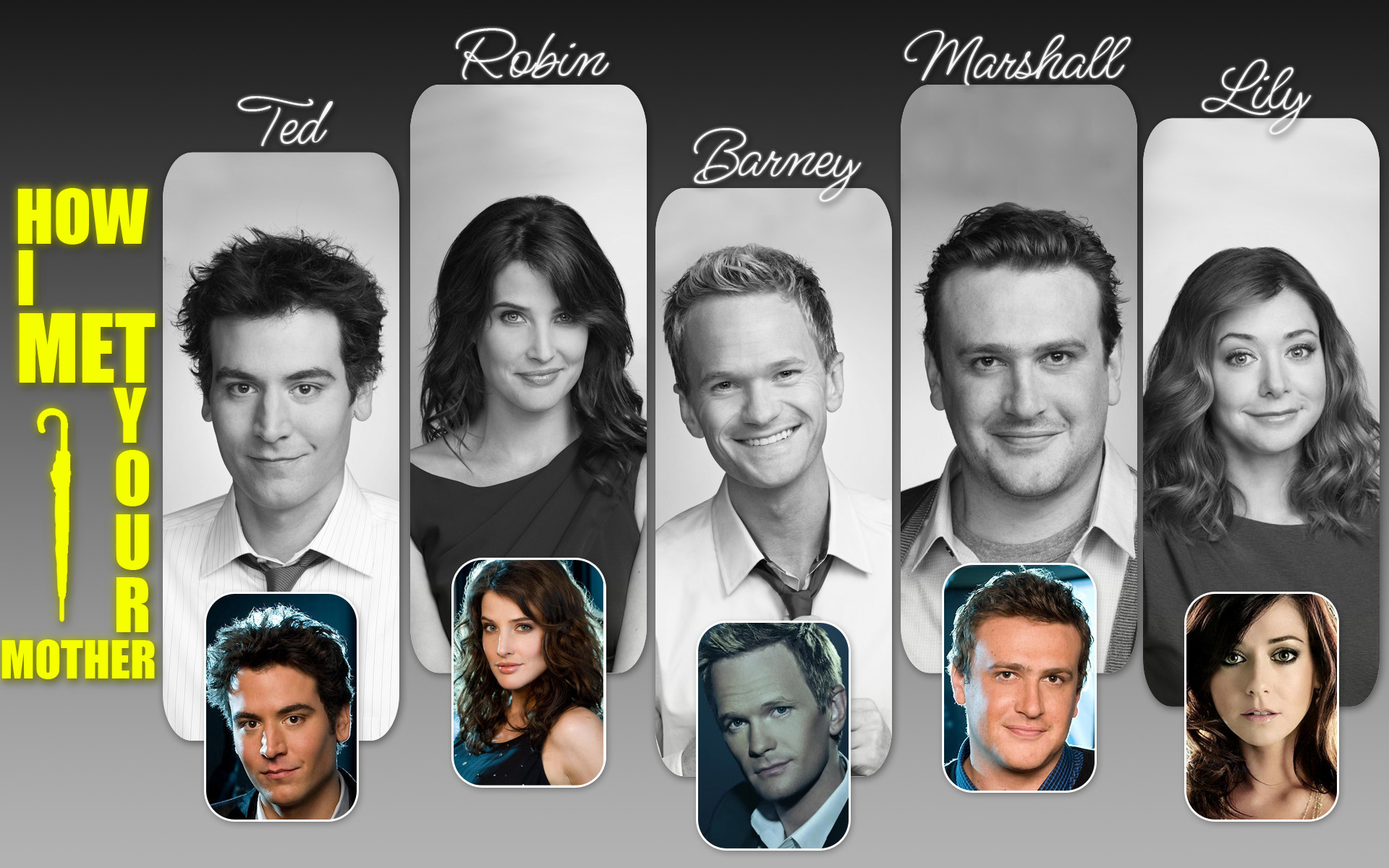 1920x1200 ... How I Met Your Mother team by rollr