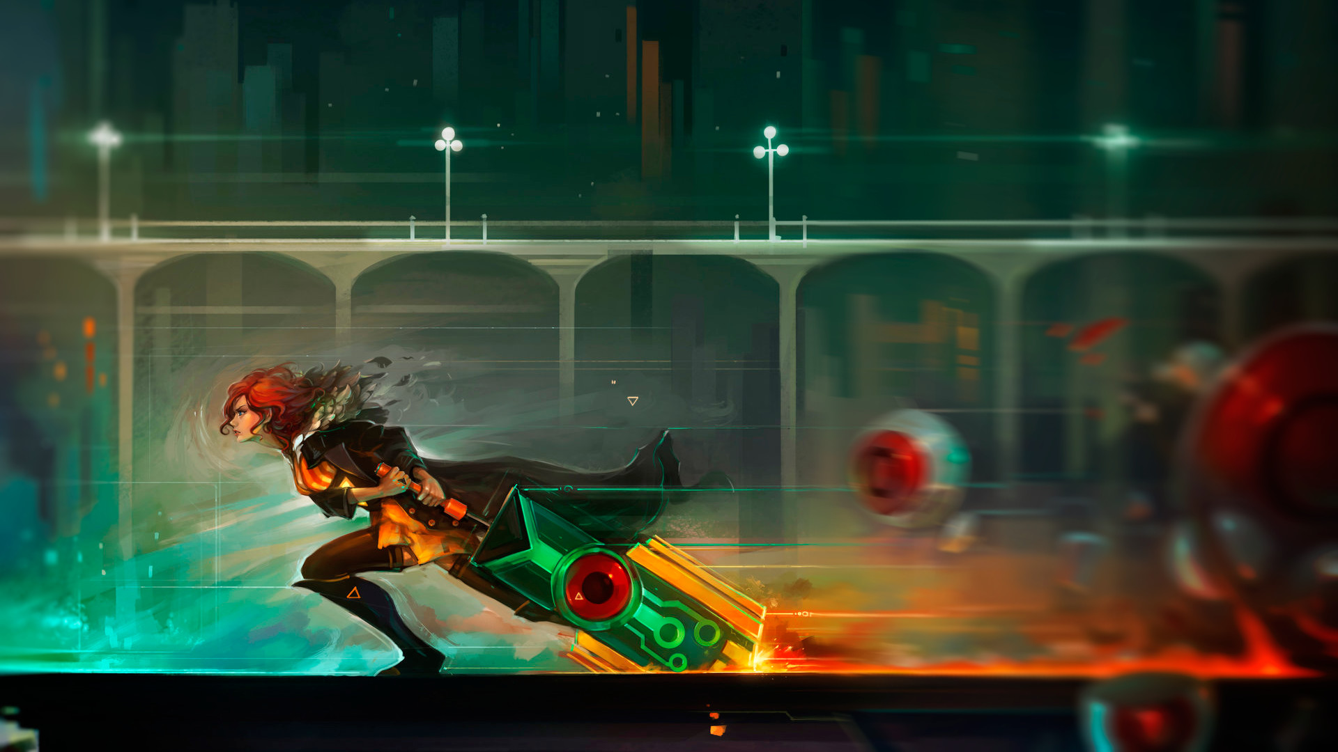 1920x1080 Transistor, Video Games, Red (Transistor) Wallpapers HD / Desktop and  Mobile Backgrounds