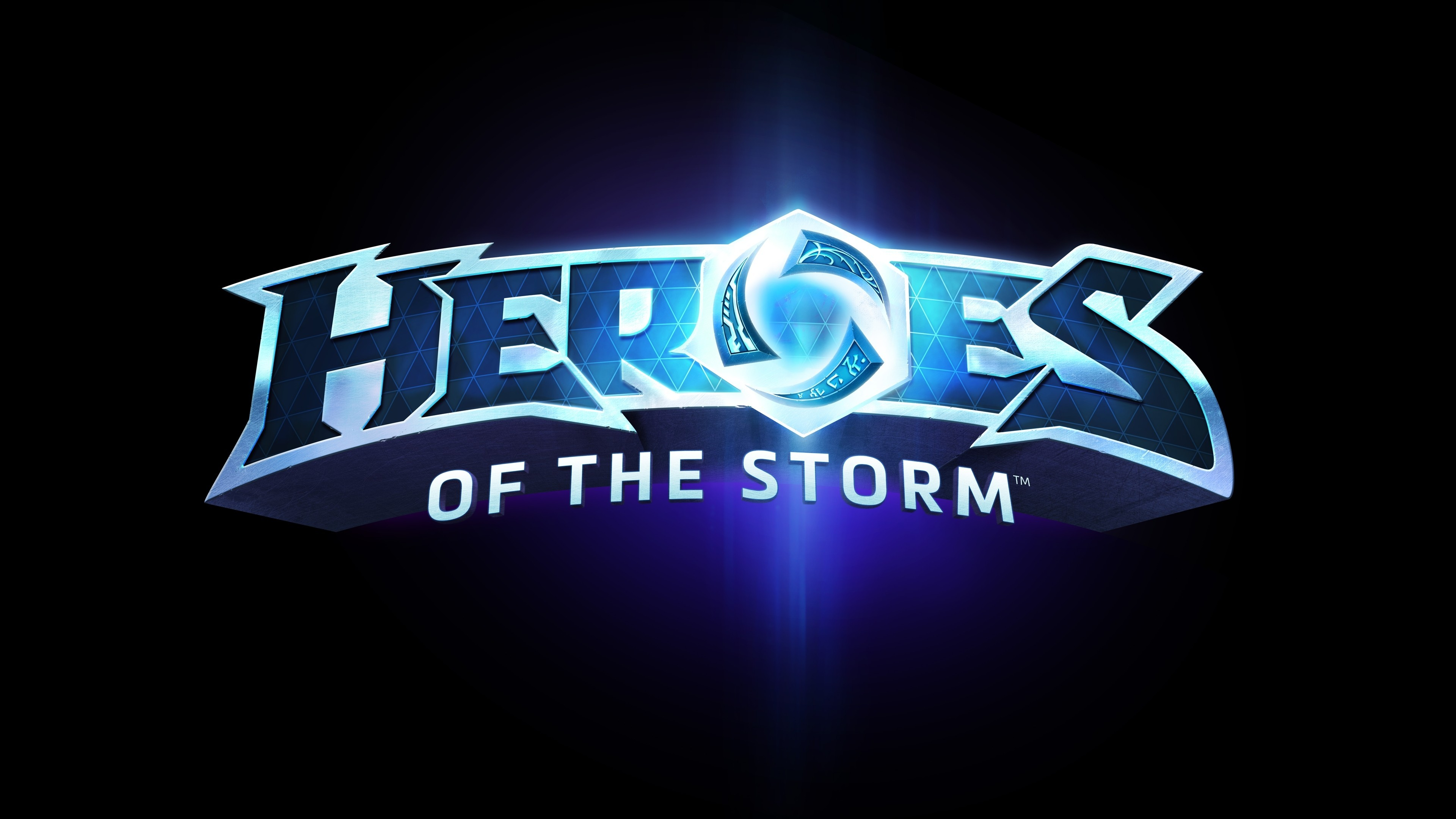 3840x2160 Preview wallpaper heroes of the storm, blizzard entertainment, blue, logo
