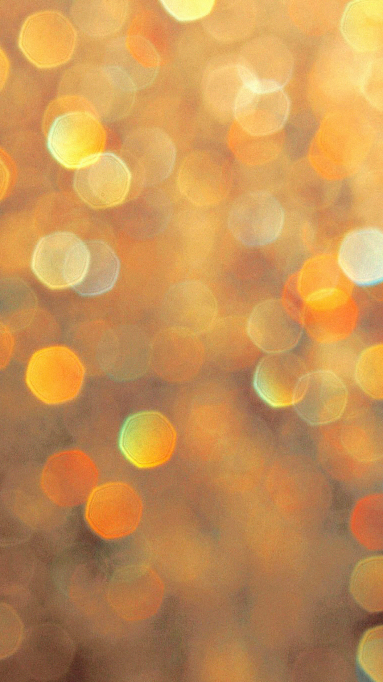 1242x2208 Gold Orange Bokeh Lights Sparkles Android Wallpaper ...