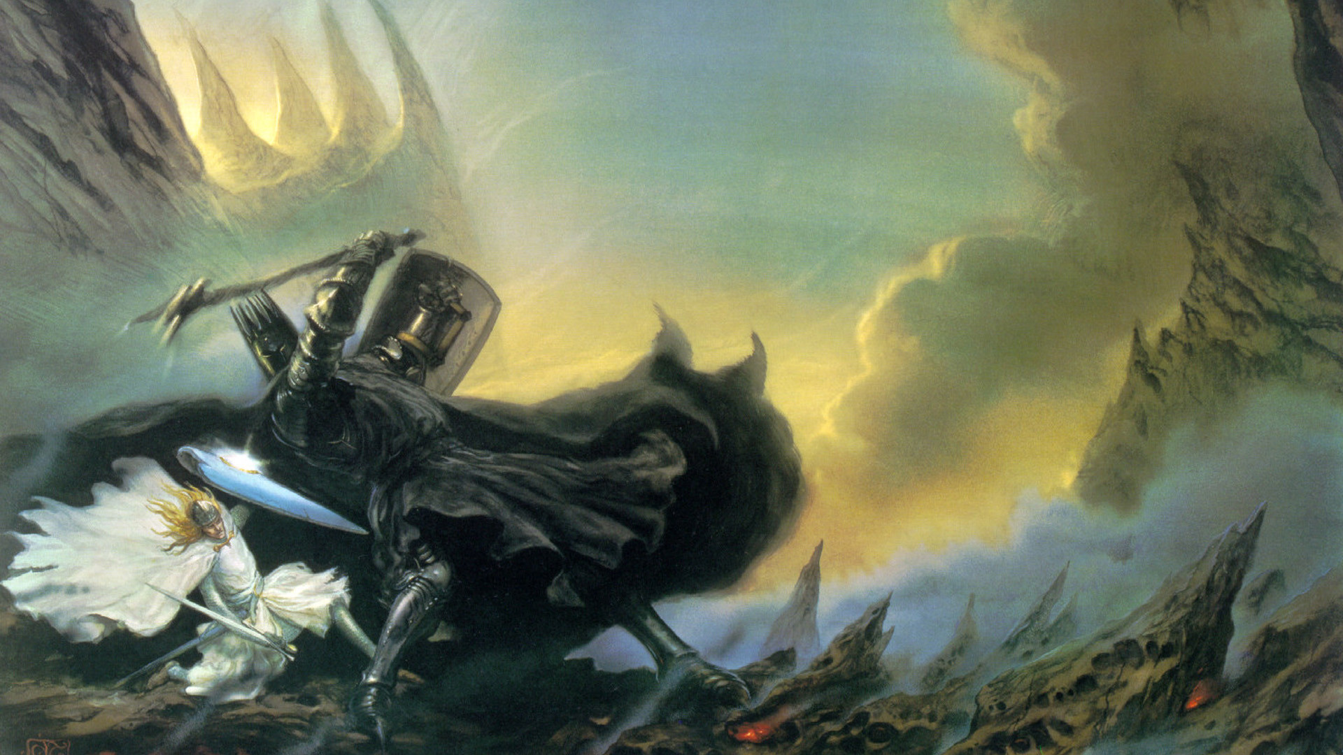 1920x1080 J. R. R. Tolkien, The Silmarillion, Morgoth, Fantasy Art, John Howe  Wallpapers HD / Desktop and Mobile Backgrounds
