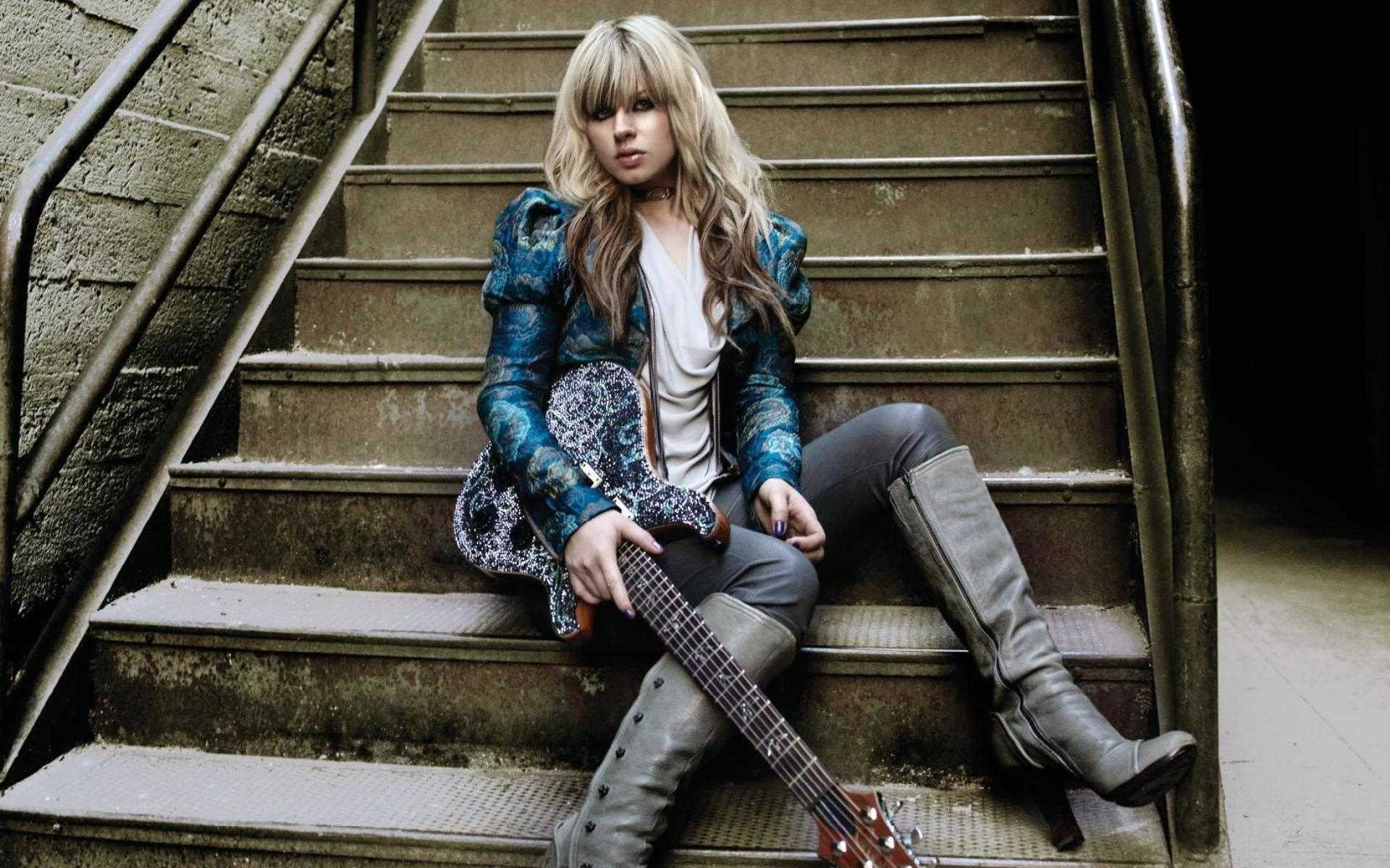 1920x1200 Orianthi Panagaris guitarist rock women females girl girls musician pop  blonde blondes guitar guitars n