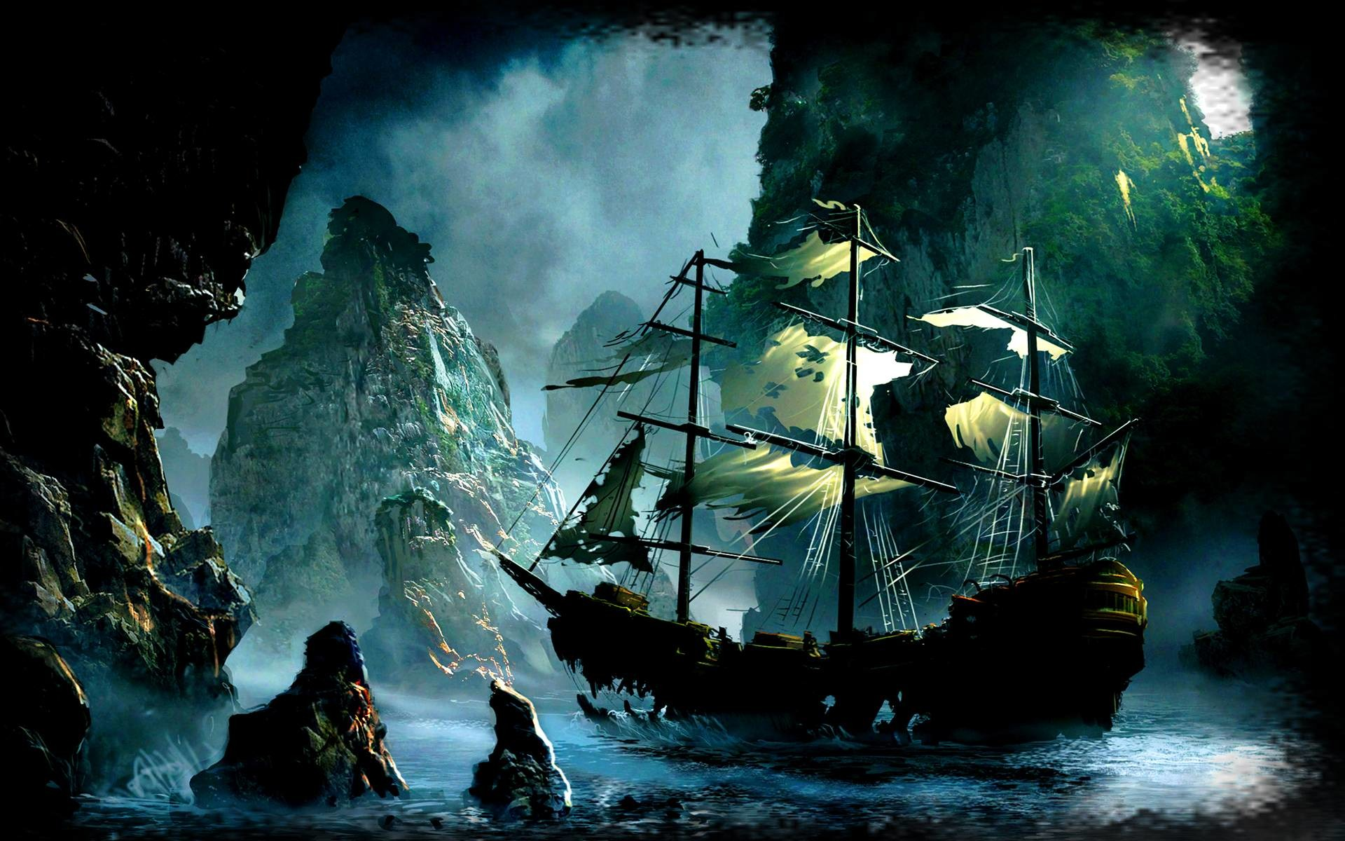 1920x1200 Wallpapers For > Pirate Ghost Ship Wallpaper