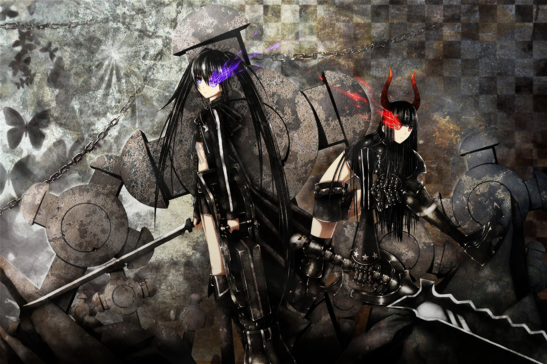 2148x1432 Anime Badass Girl Wallpaper Anime - black rock shooter