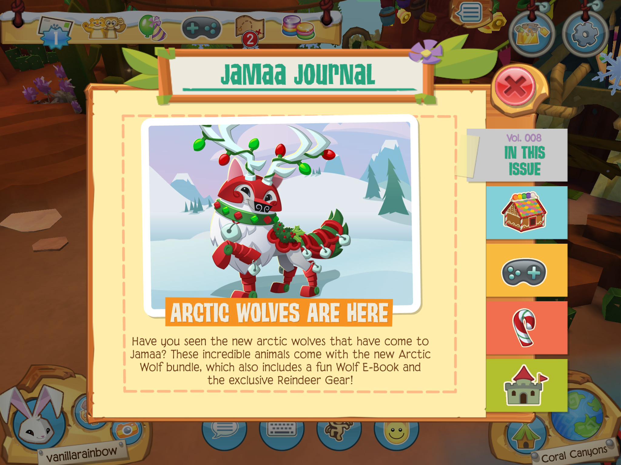 2048x1536 Volume 8 of the Jamaa Journal is out! Arctic Wolves have arrived in PWB!  They come with a cool Jamaaliday outfit! Make sure to go check them out!