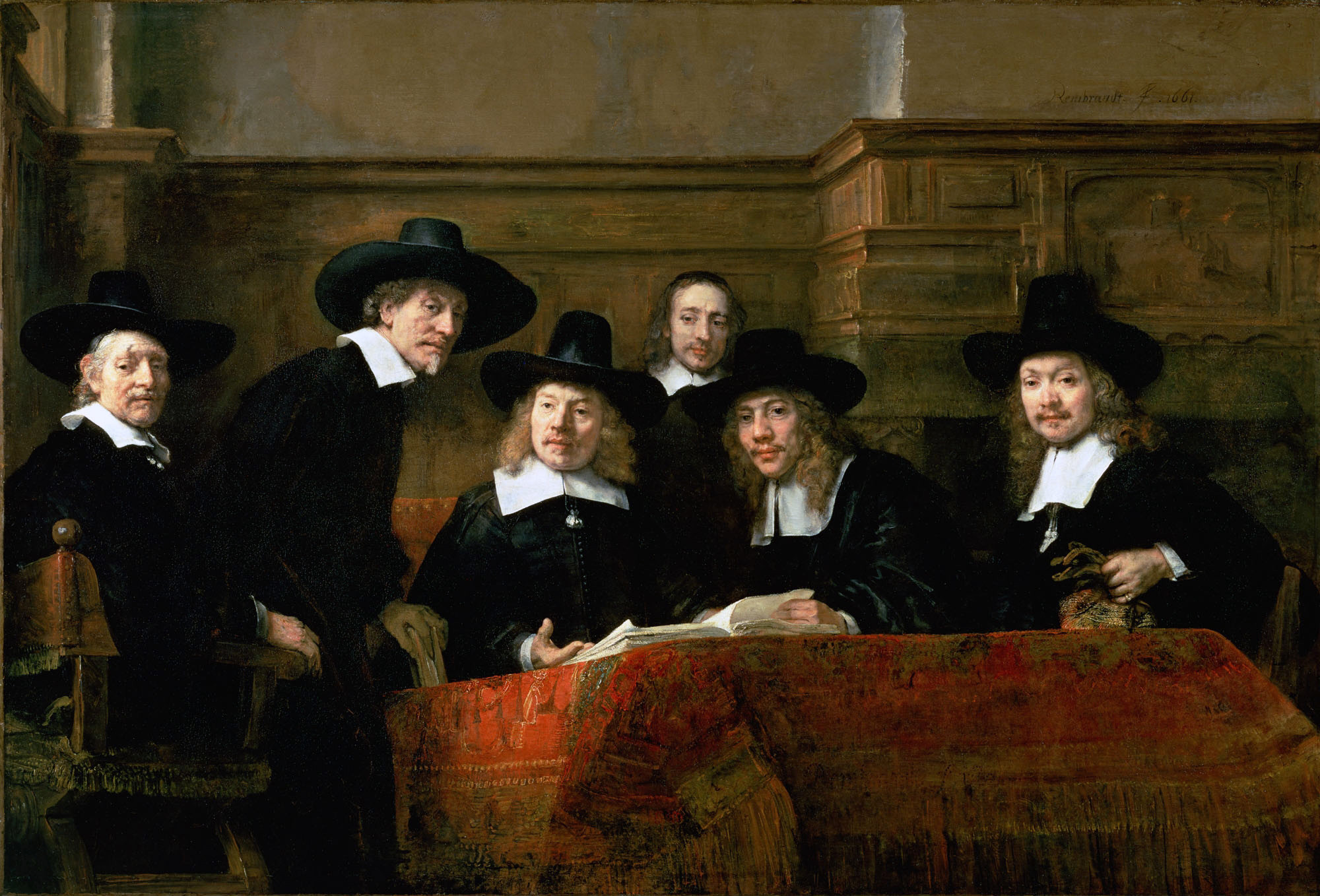 2000x1358 Rembrandt - The Syndicate of the Draper's Guild ...