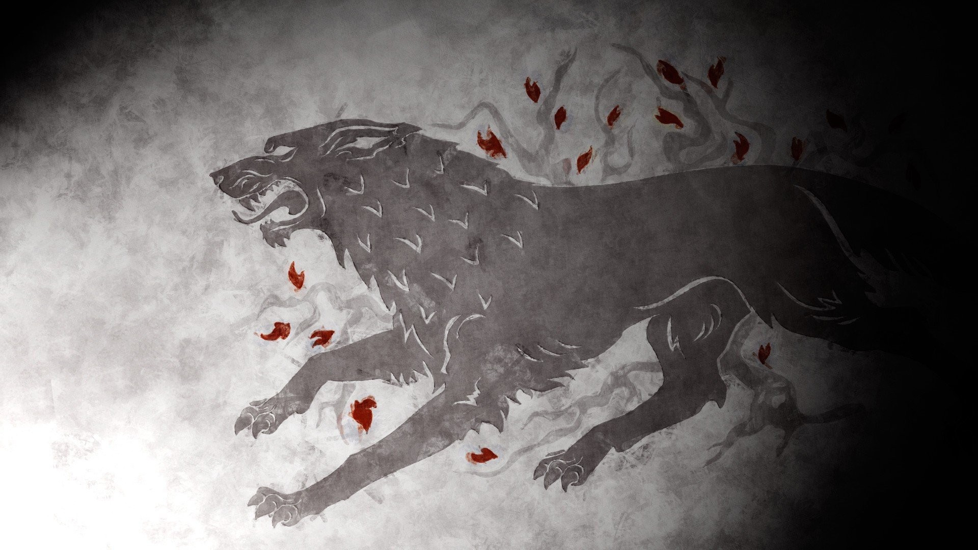 1920x1080 Game Of Thrones House Stark Ned Arya Direwolf ...