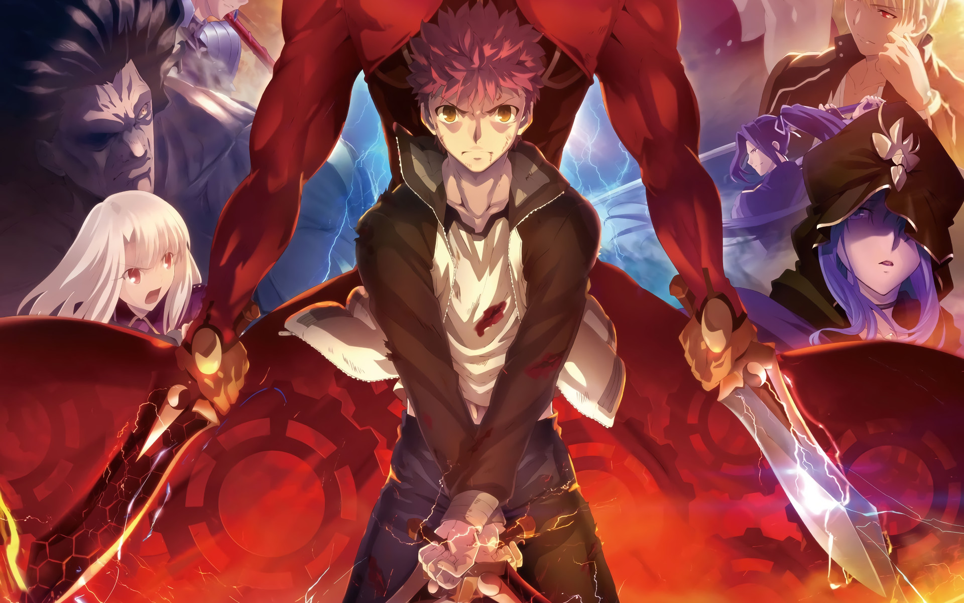 1920x1200 Anime - Fate/Stay Night: Unlimited Blade Works Illyasviel Von Einzbern  Shirou Emiya Archer