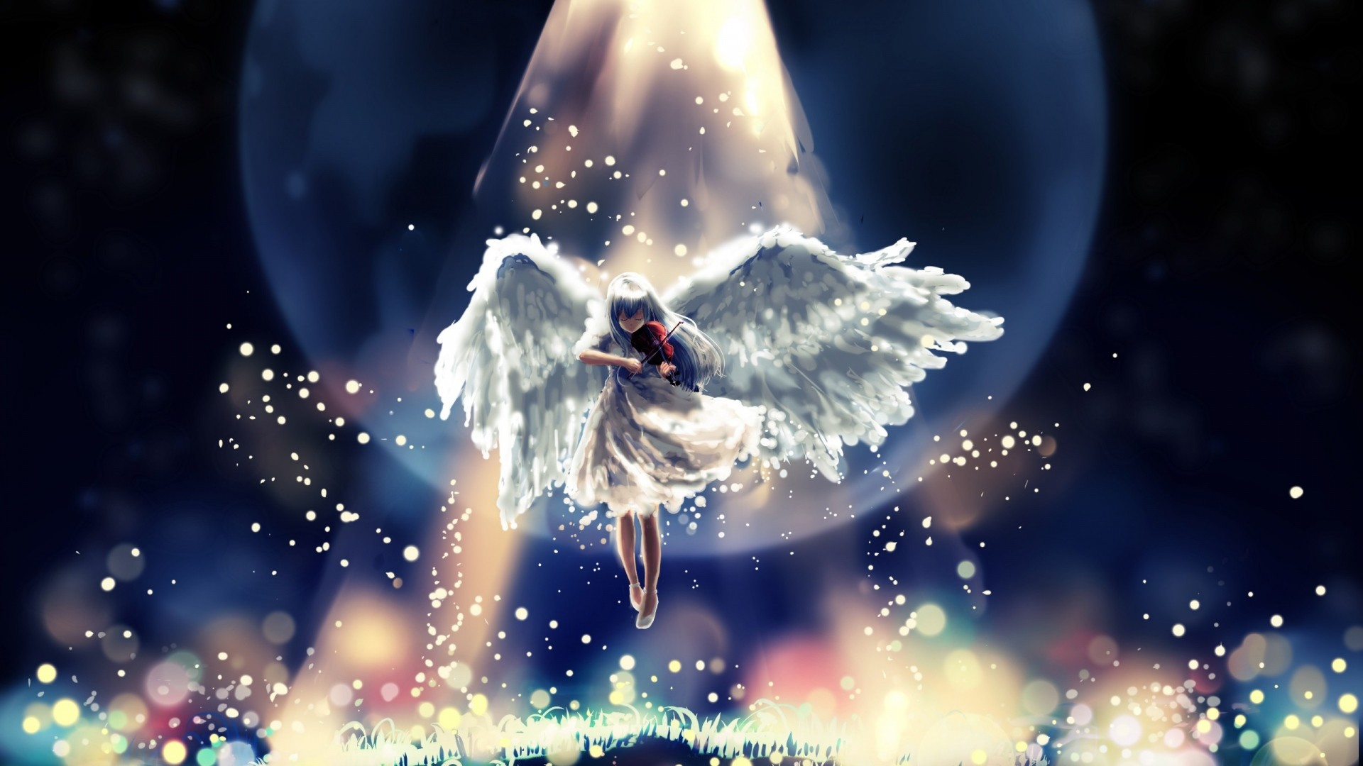 1920x1080 Preview wallpaper angel, flying, sky, beautiful