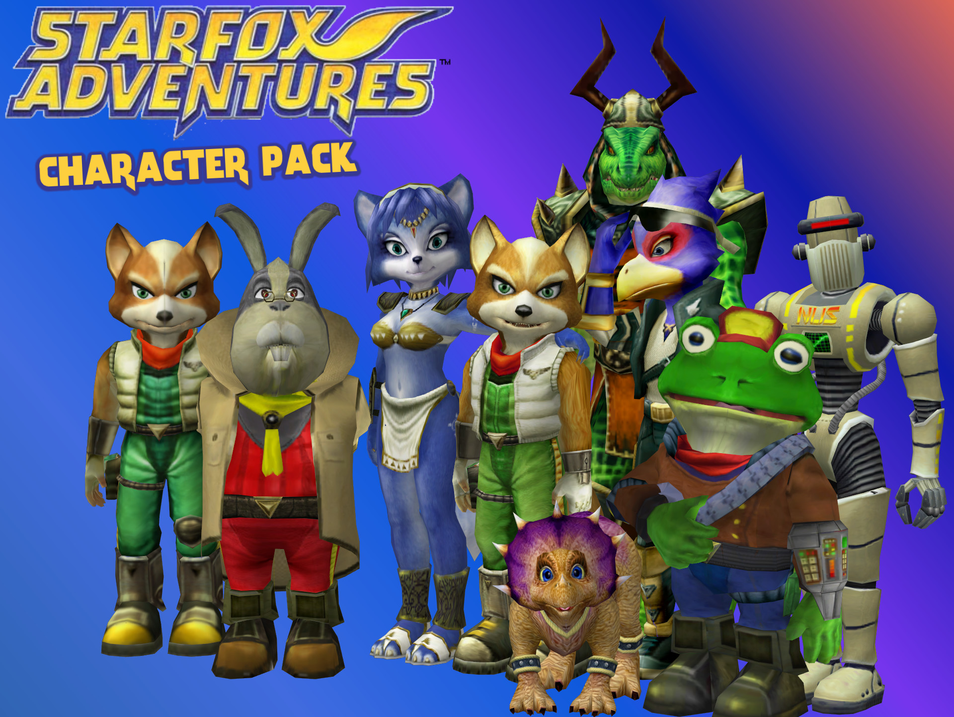 1920x1443 Star Fox Adventures - Character pack by Commitment2PurpleX2.deviantart.com  on @DeviantArt