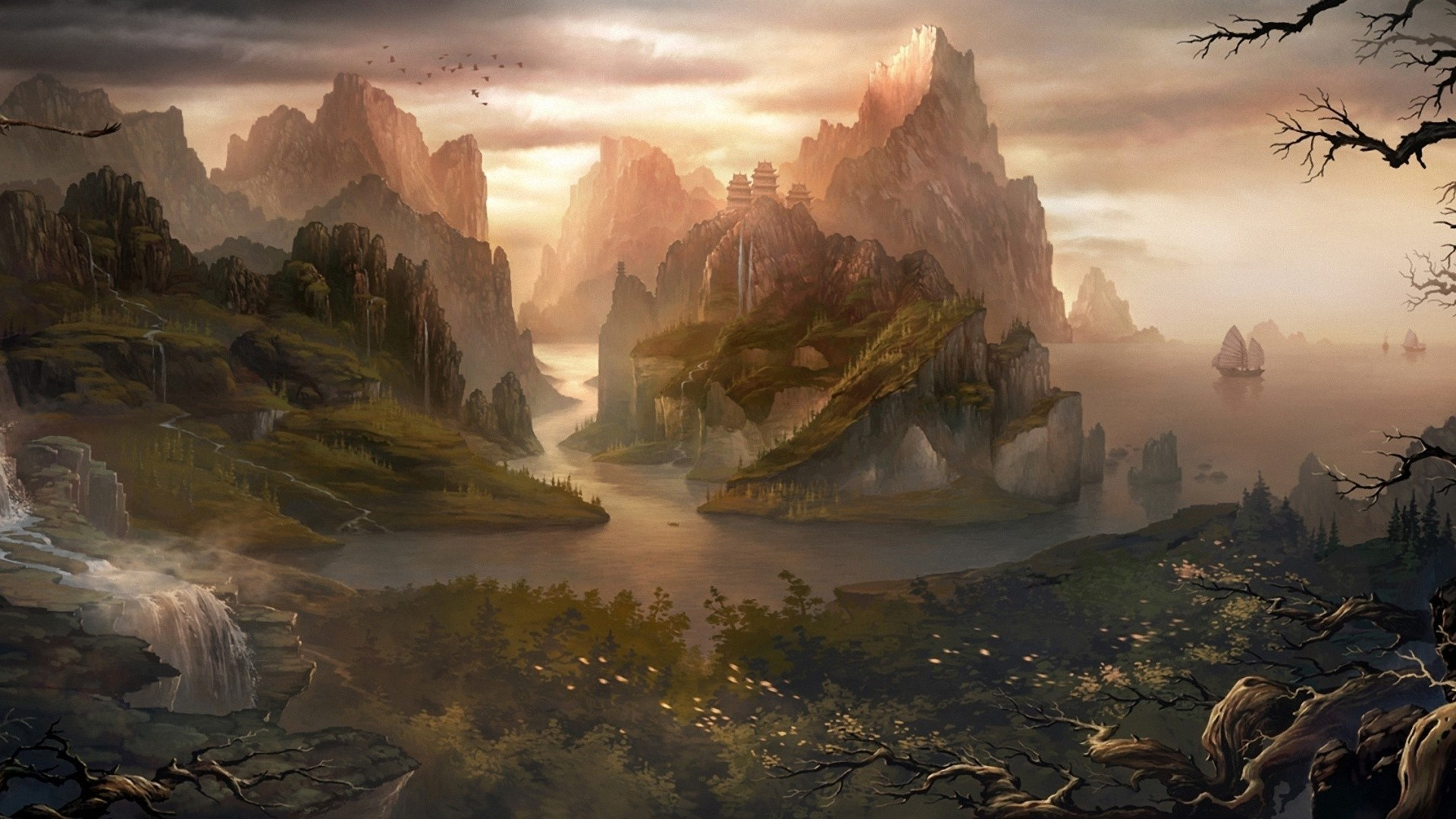 1920x1080 ... Fantasy Landscape Wallpapers HD - HD ...