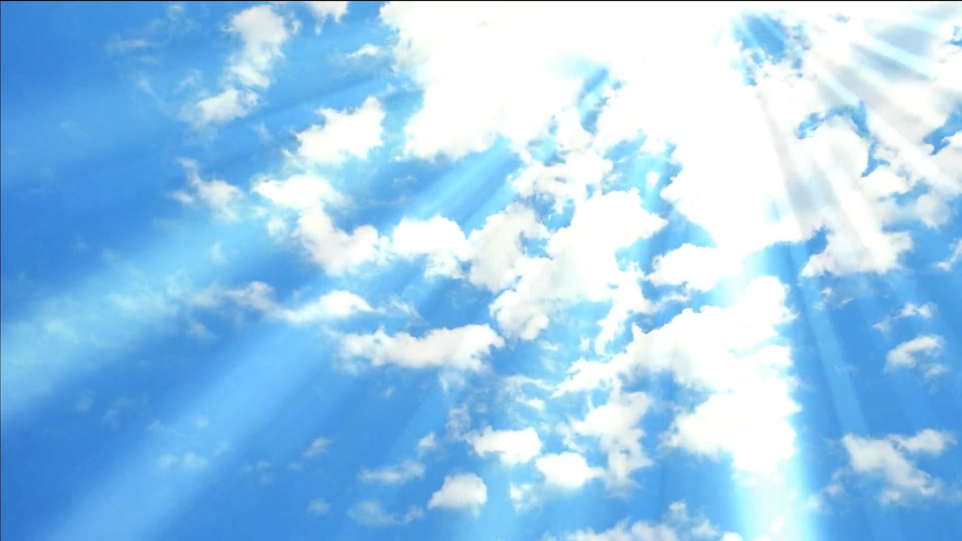 Light blue sky background