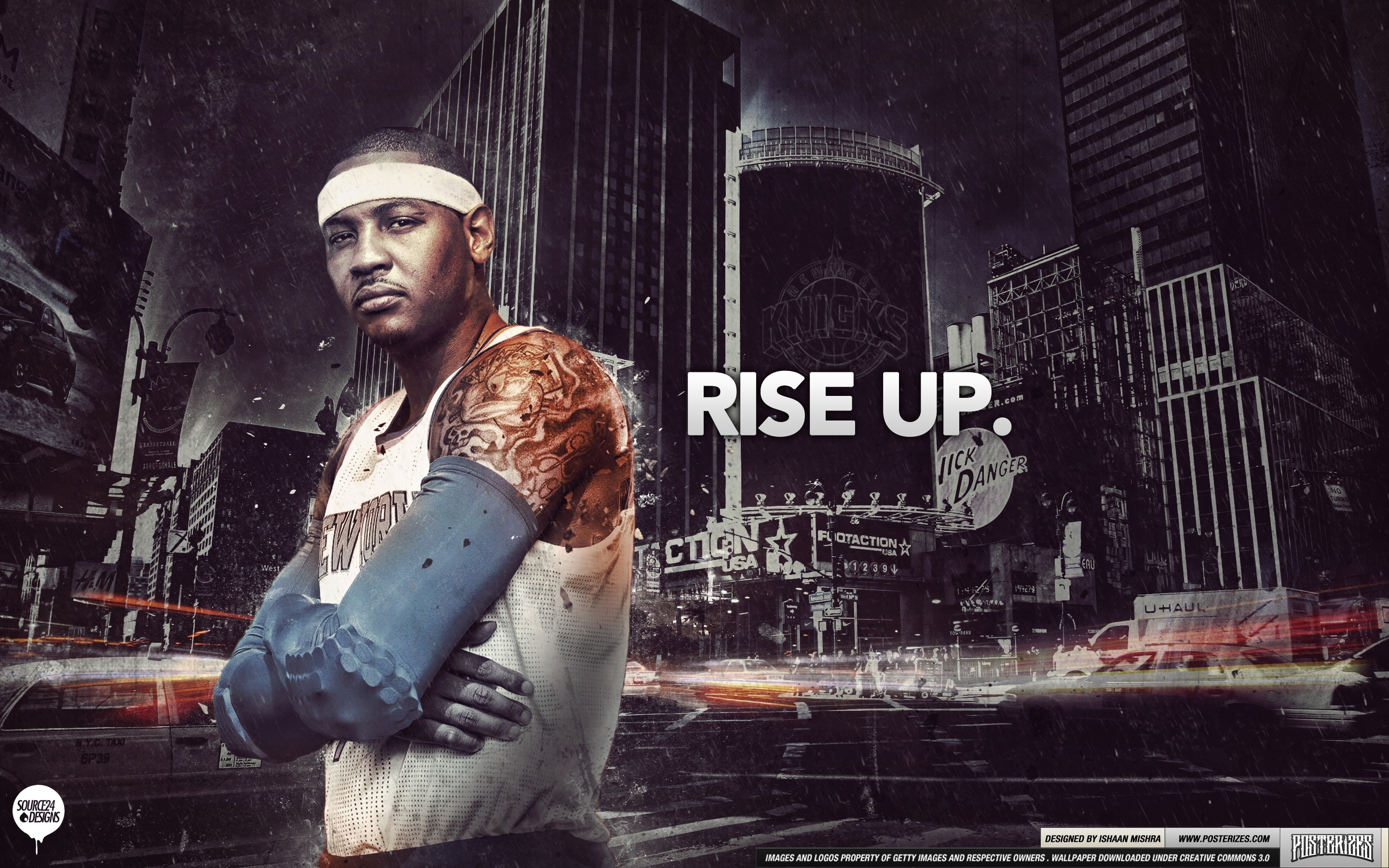 2880x1800 Carmelo Anthony New York Knicks Rise Up Wallpaper
