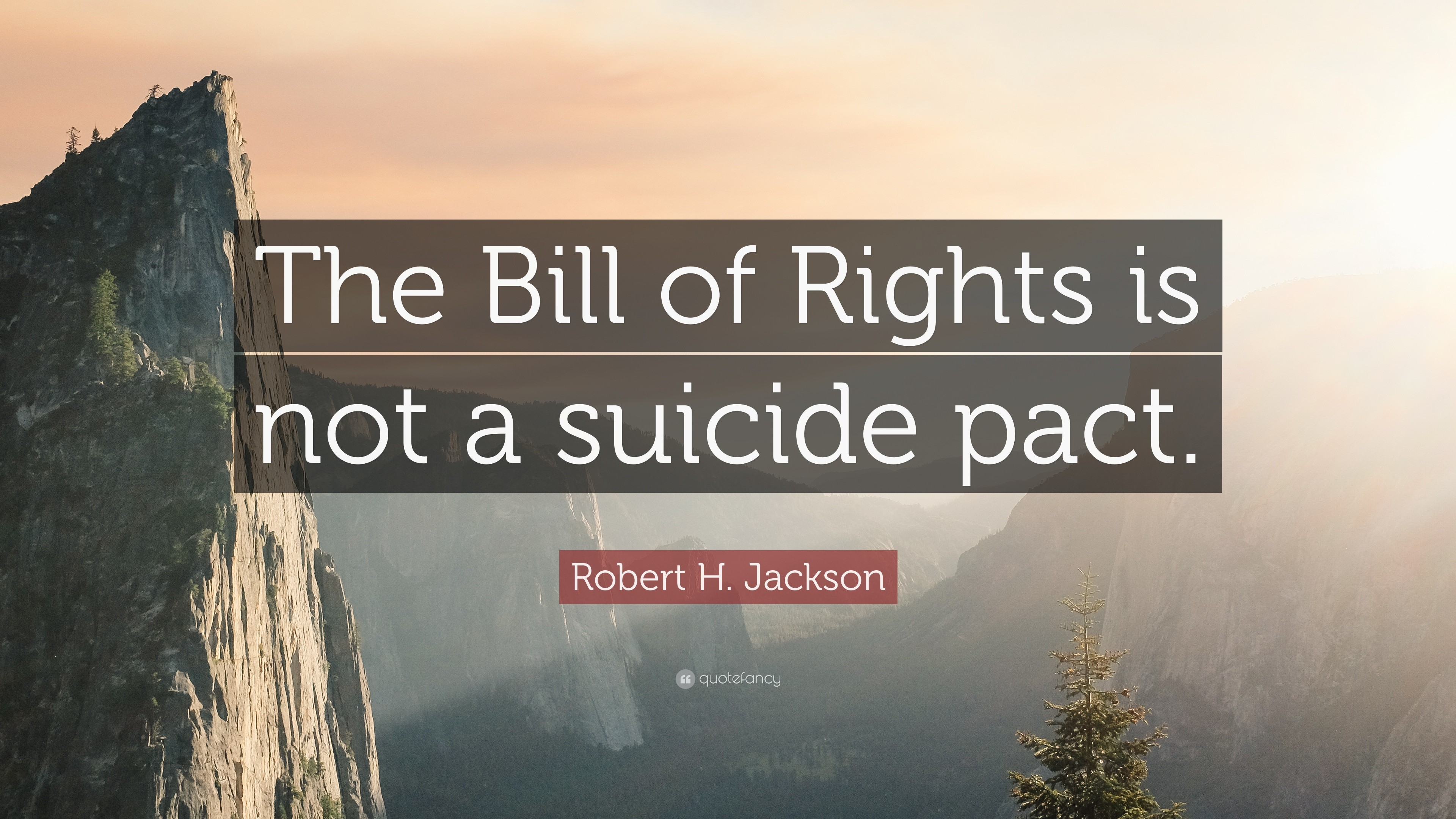 "3840x2160 Robert H. Jackson Quote: ""The Bill of Rights is not a suicide pact"