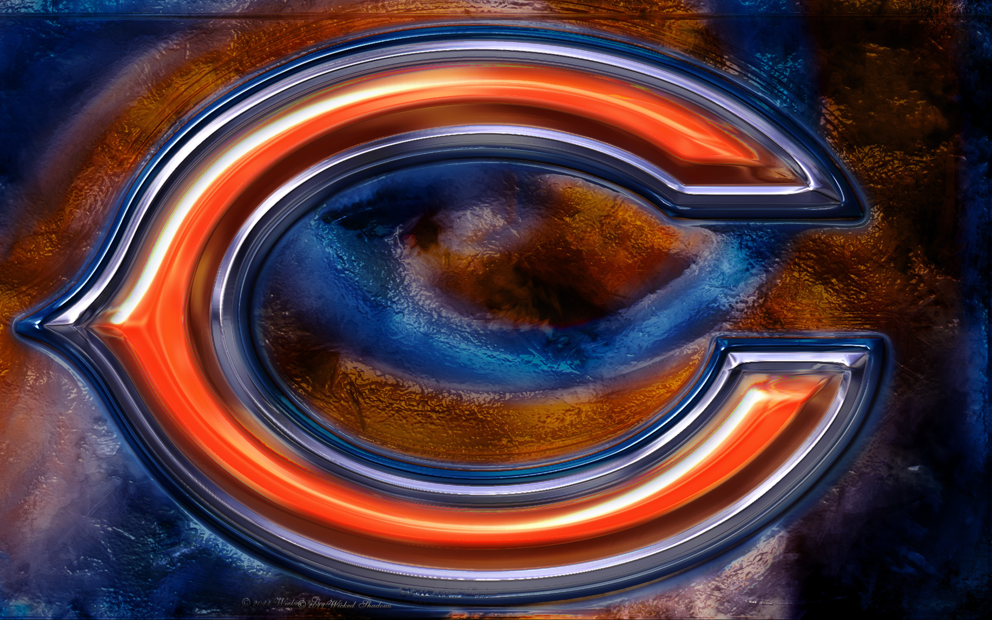 2000x1250 Chicago Bears Logo Wallpaper | Wallpaper Download