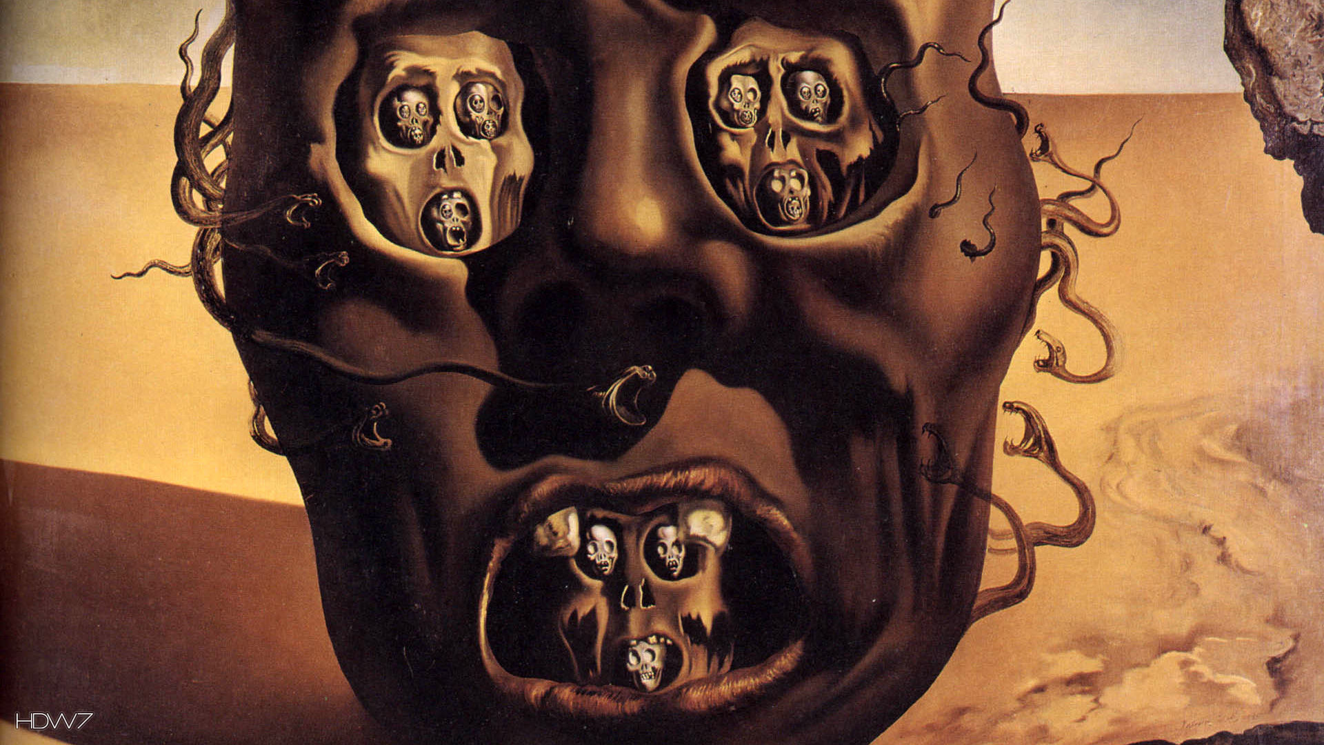 1920x1080 face of war salvador dali wallpaper 1080p