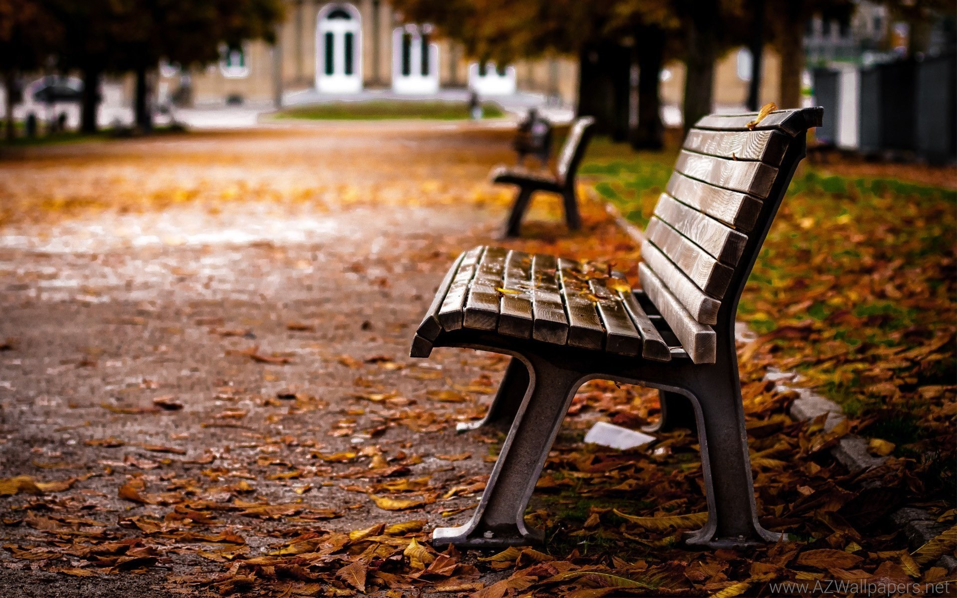 1920x1200 Lovely Park Bench HD Wallpapers