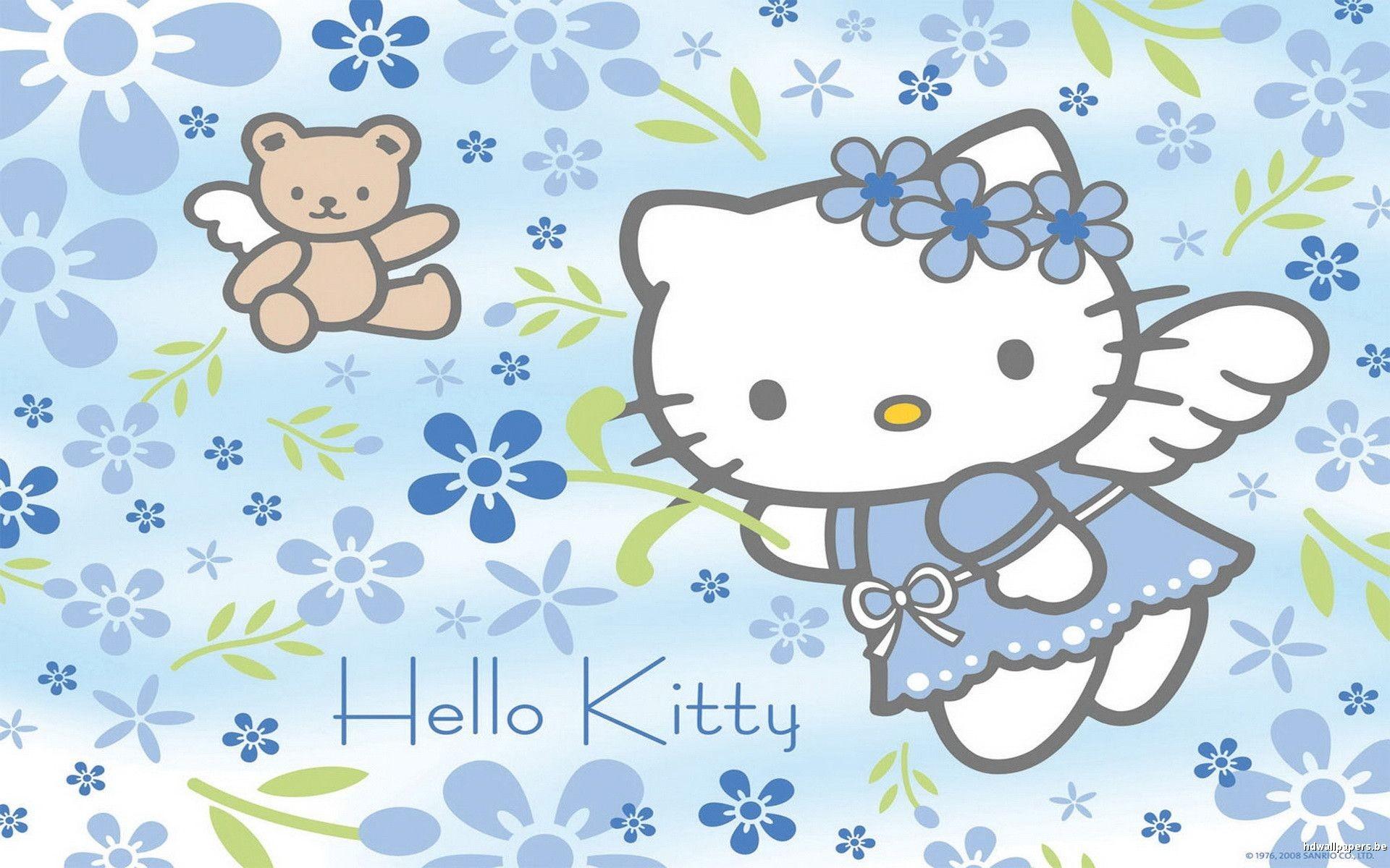 1920x1080 Purple Hello Kitty Wallpaper Free