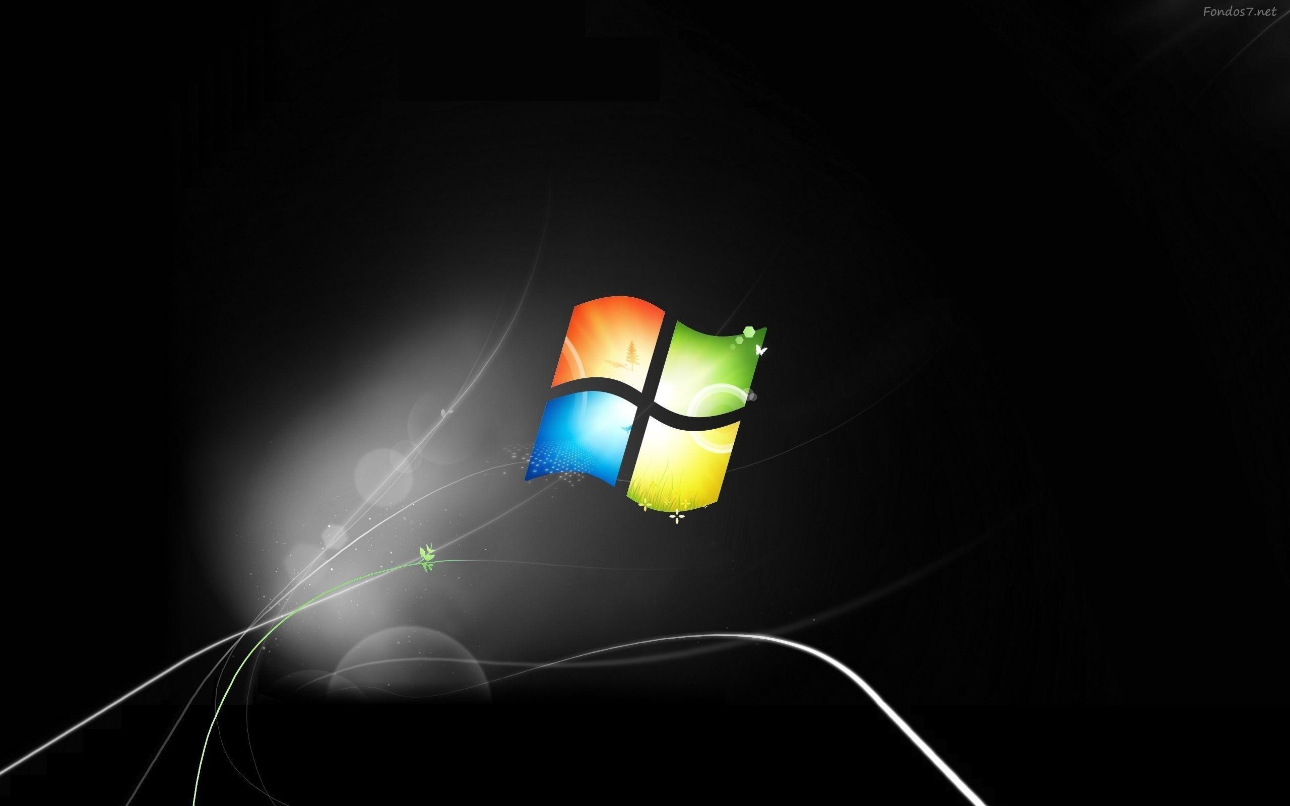 Windows 7 hintergrund schwarz