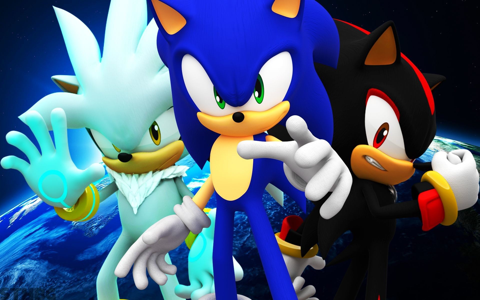 1920x1200 Sonic, Shadow, Silver, Blaze, Knuckles - Wallpaper by .