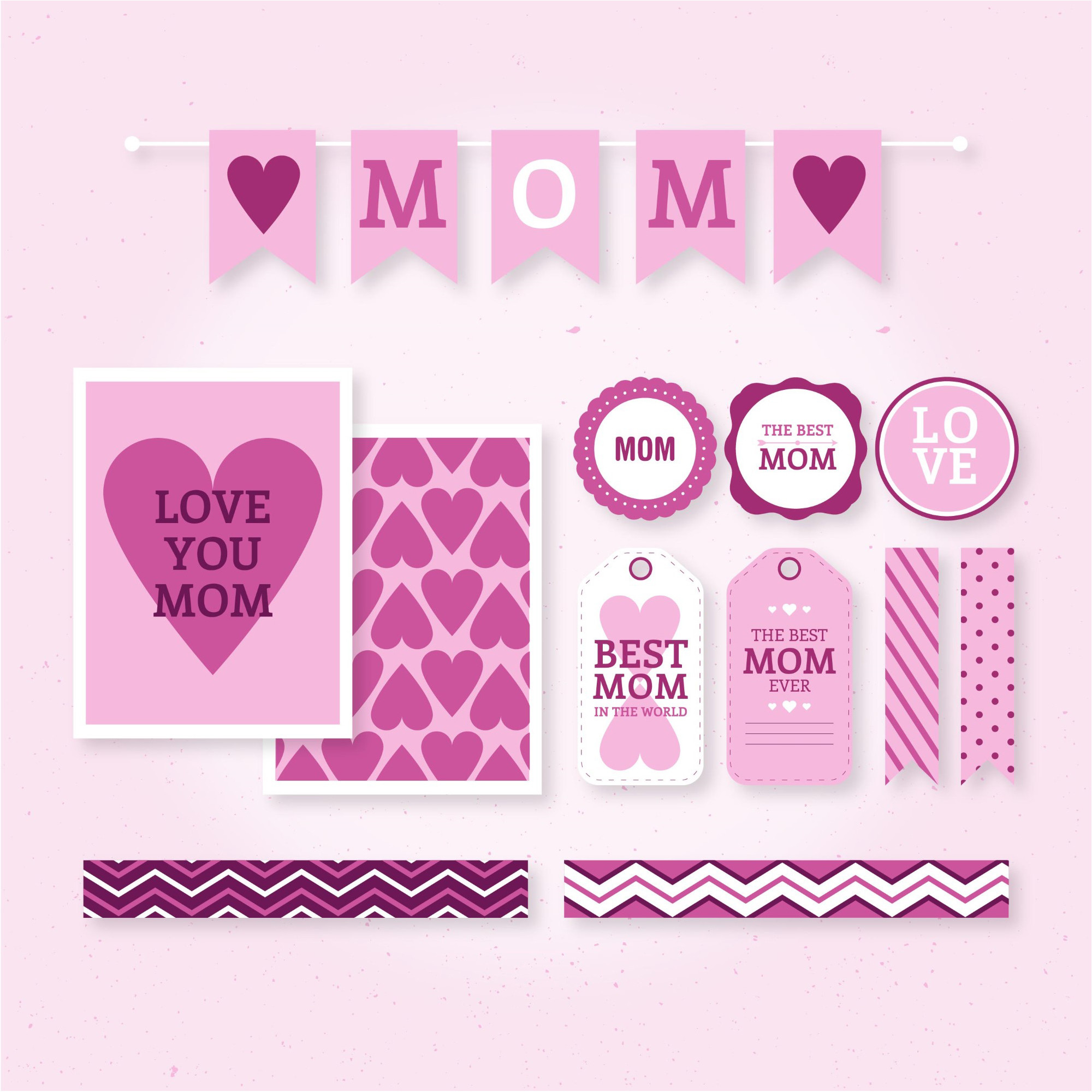 2000x2000 Love Happy Mother Day Vector & Wallpaper background