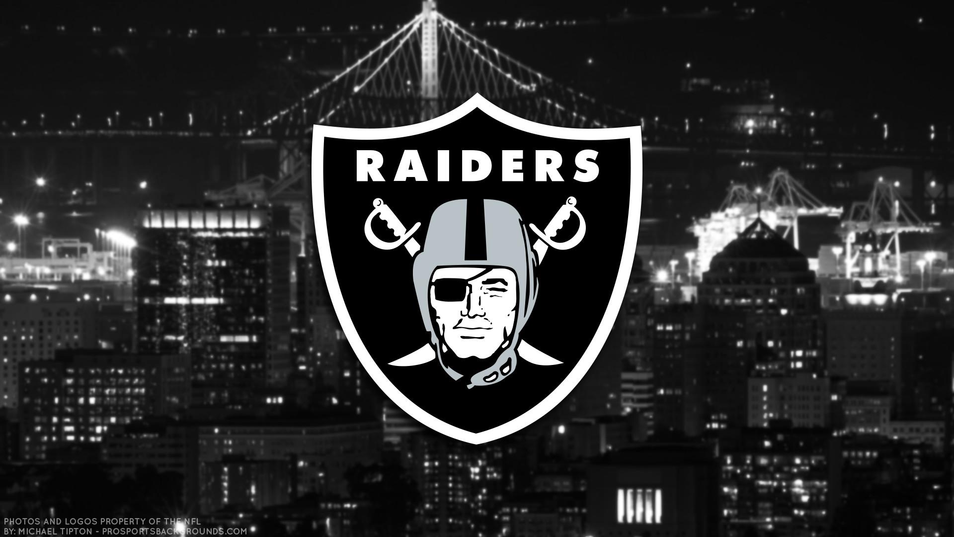 Oakland Raiders 2017 Football Logo Wallpaper Pc Desktop Computer