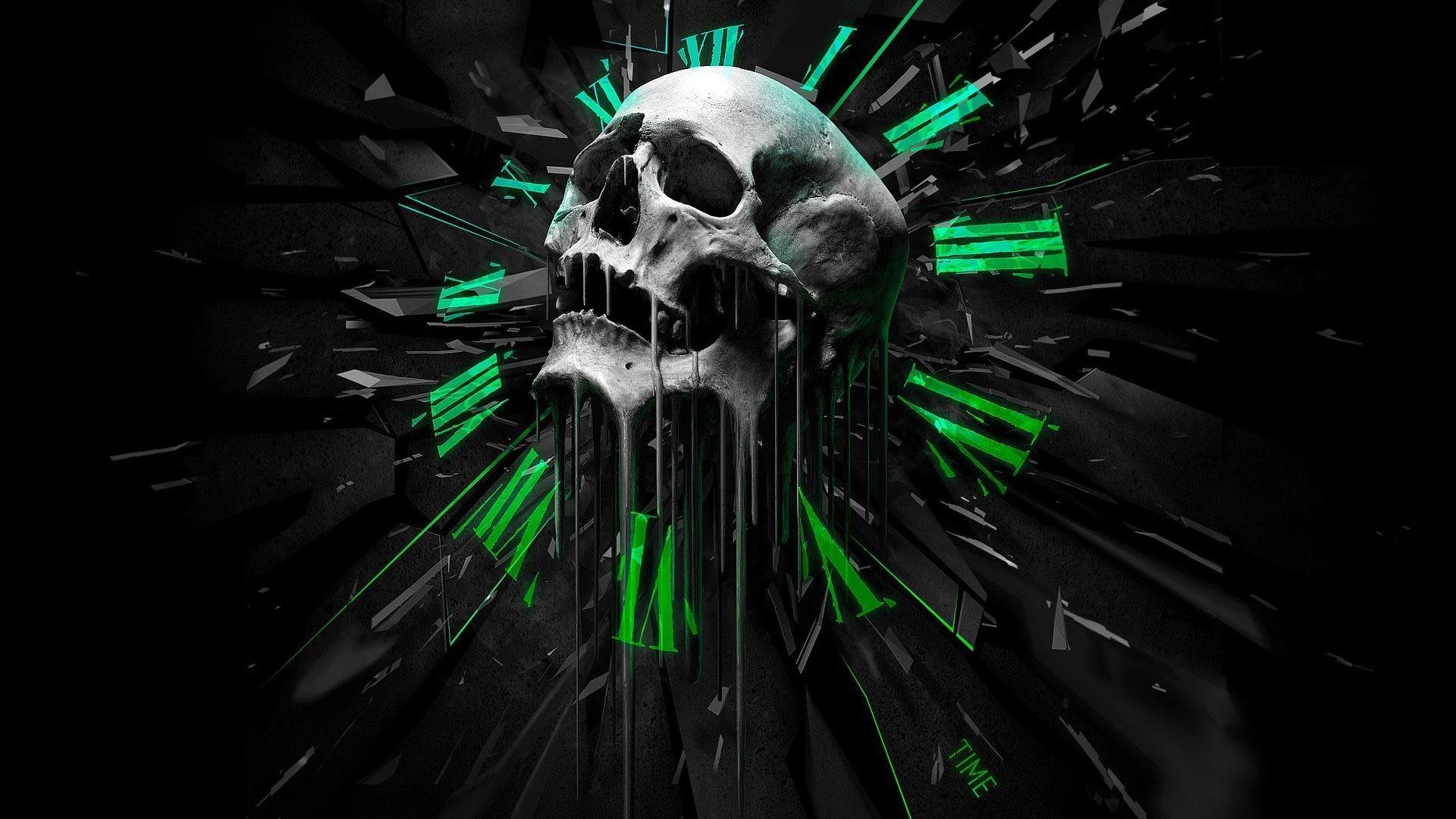 Skulls and guns wallpaper 59 images - Skull 4k images ...