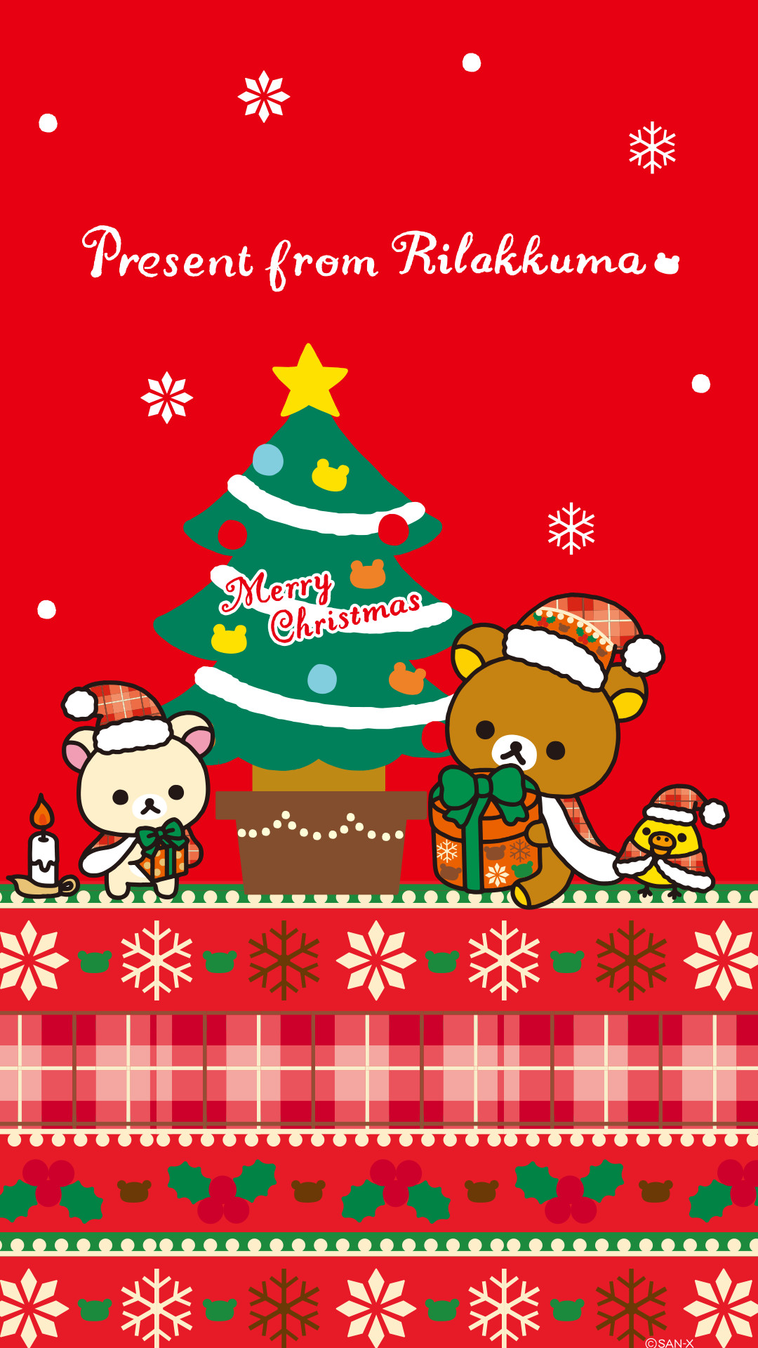 1080x1920 Rilakkuma X'Mas wallpaper for iPhone & Android