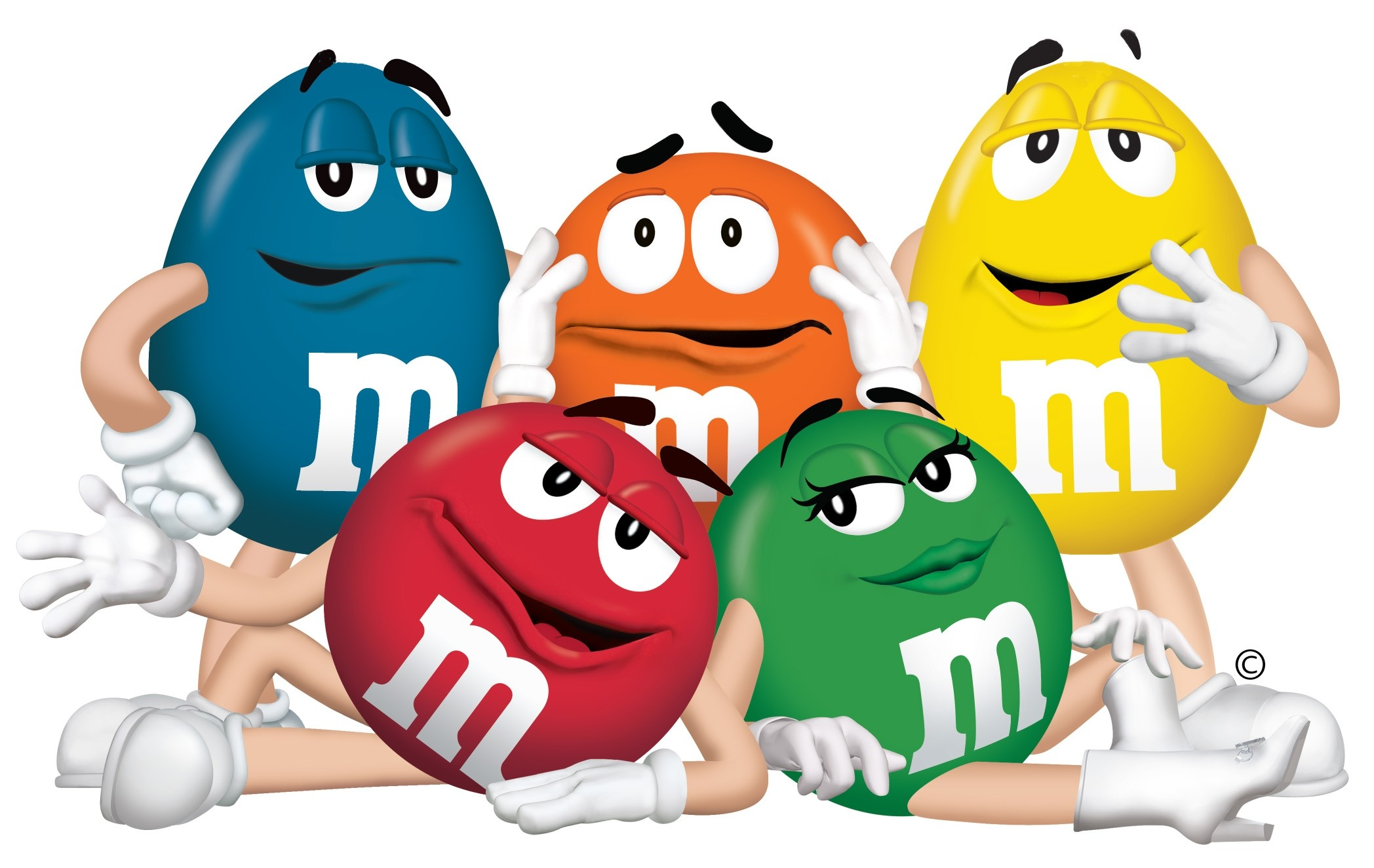 2096x1324 Wallpaper m and m, mm, characters, chocolate, candy, blue, orange