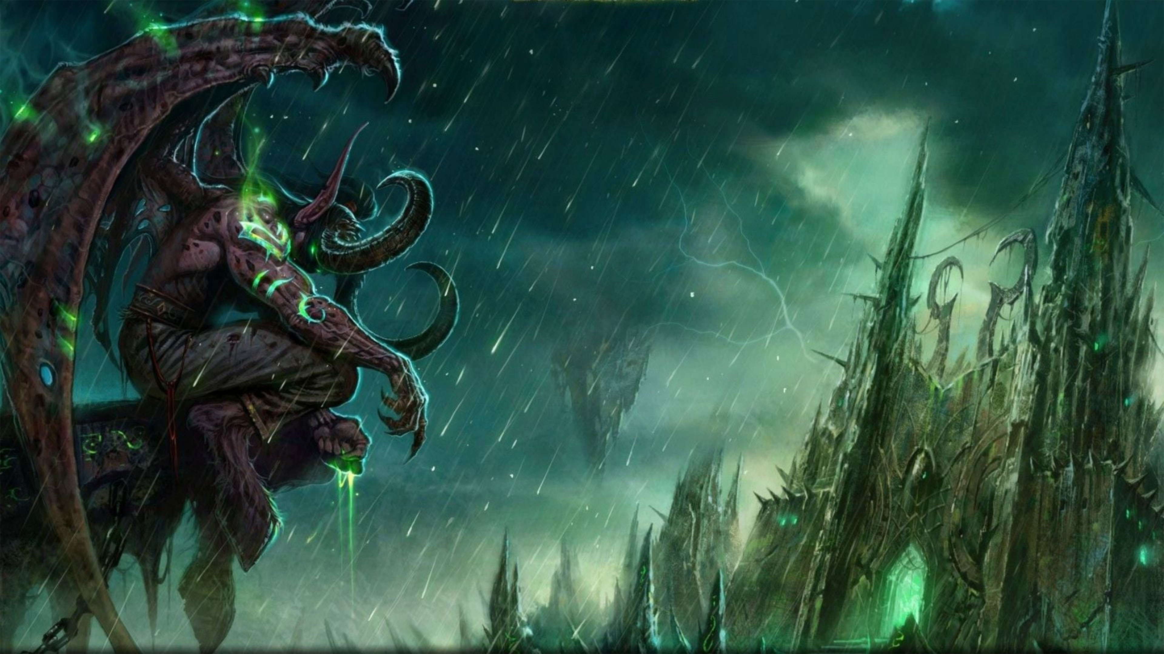 3840x2160 WOW Demon Hunter Wallpaper