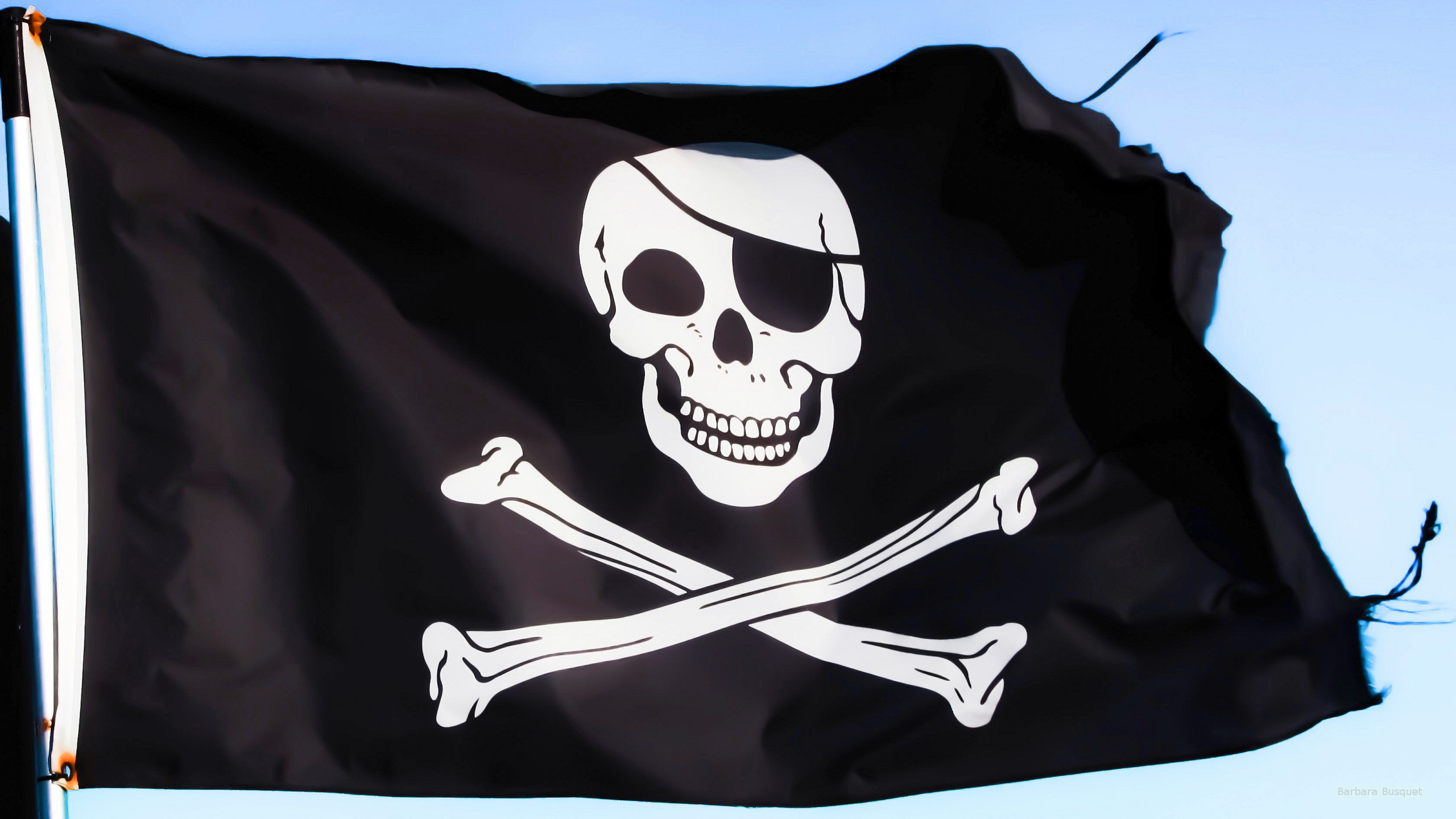 2560x1440 HD wallpaper with pirates flag.