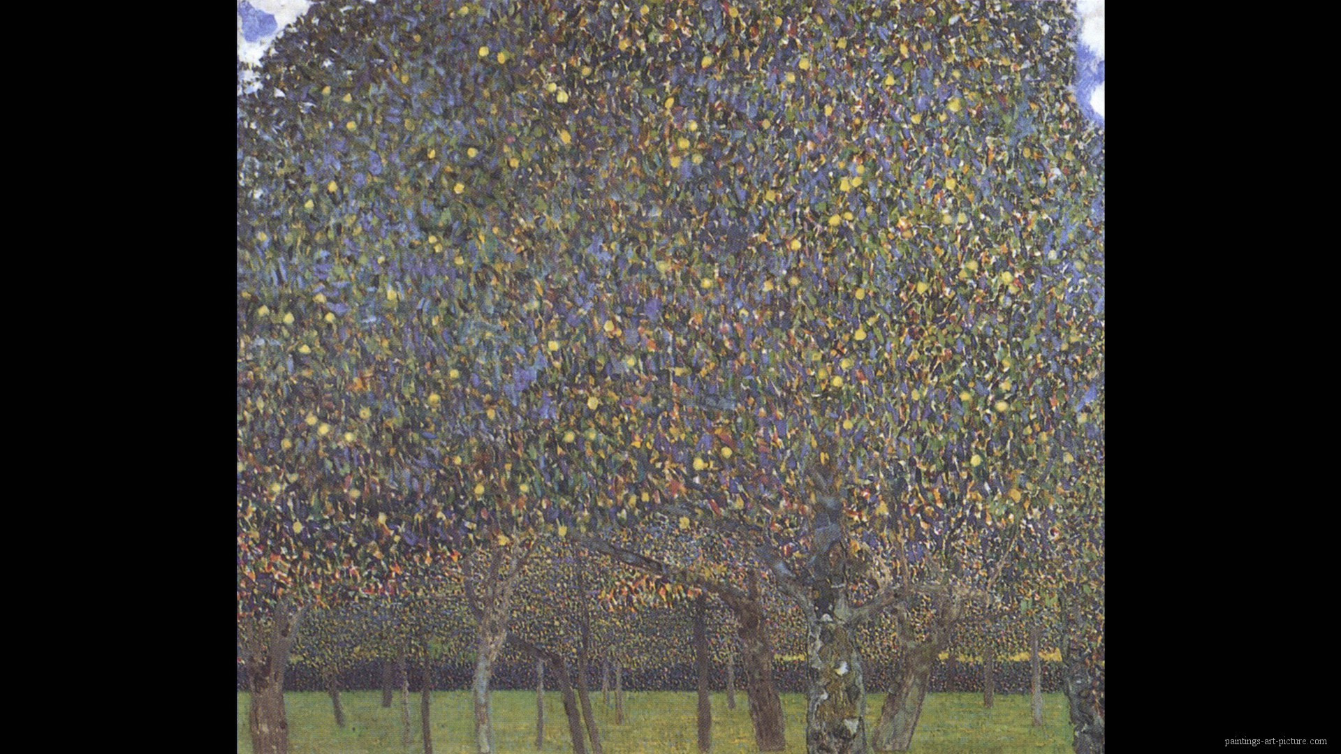 1920x1080 Painting of Gustav Klimt - Pear Tree