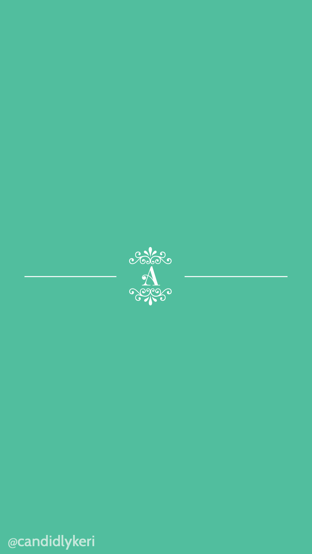 1080x1920 April 2016 Wallpaper Free Download for mobile, iphone and android, A  Monogram with mint